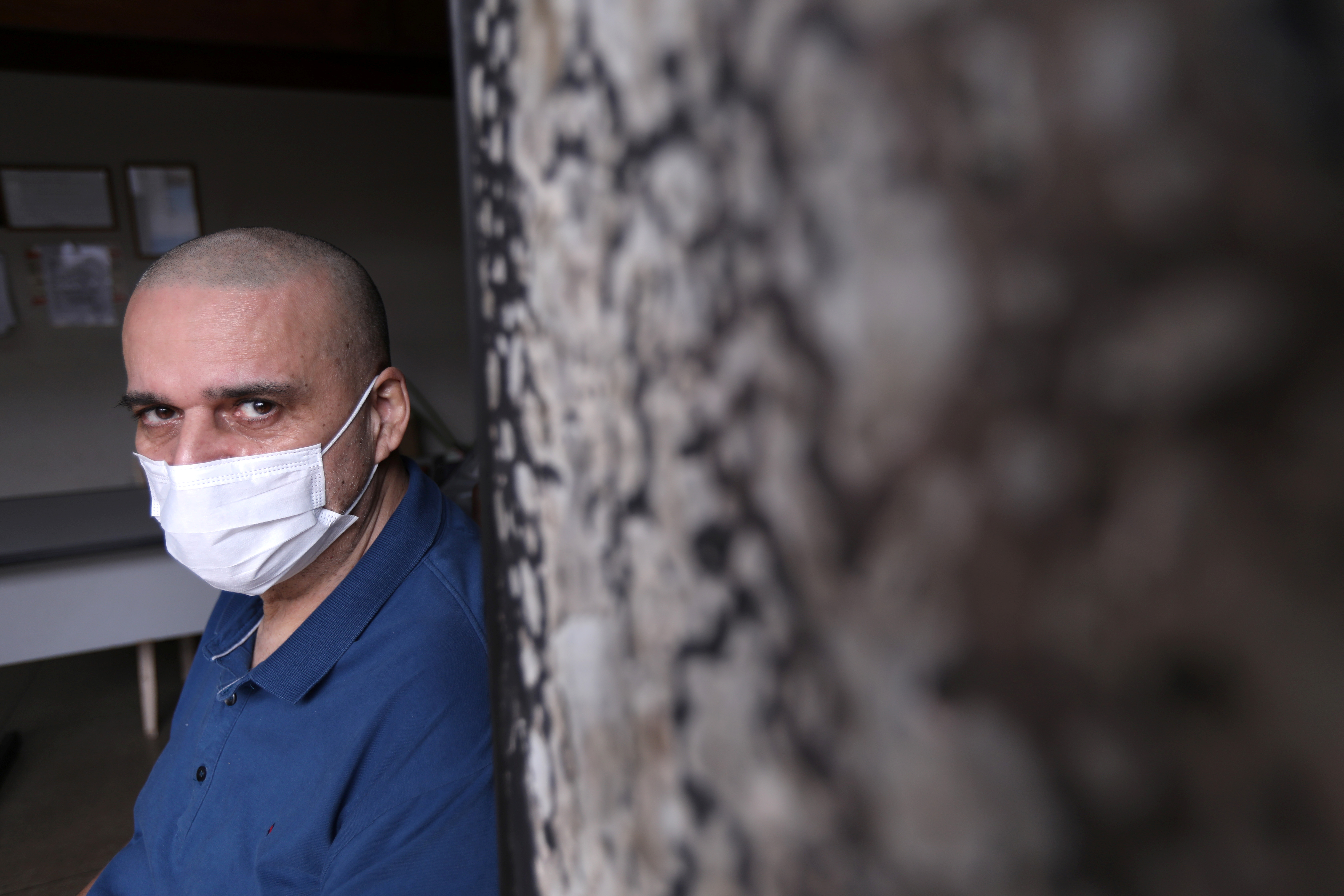 Jose Antonio Arantes, a local newspaper editor and radio host, who had his house set on fire by a supporter of Brazil's President Jair Bolsonaro, poses for a picture amid the coronavirus disease (COVID-19) pandemic in Olimpia, Sao Paulo state, Brazil, June 9, 2021. Picture taken June 9, 2021. REUTERS/Leonardo Benassatto