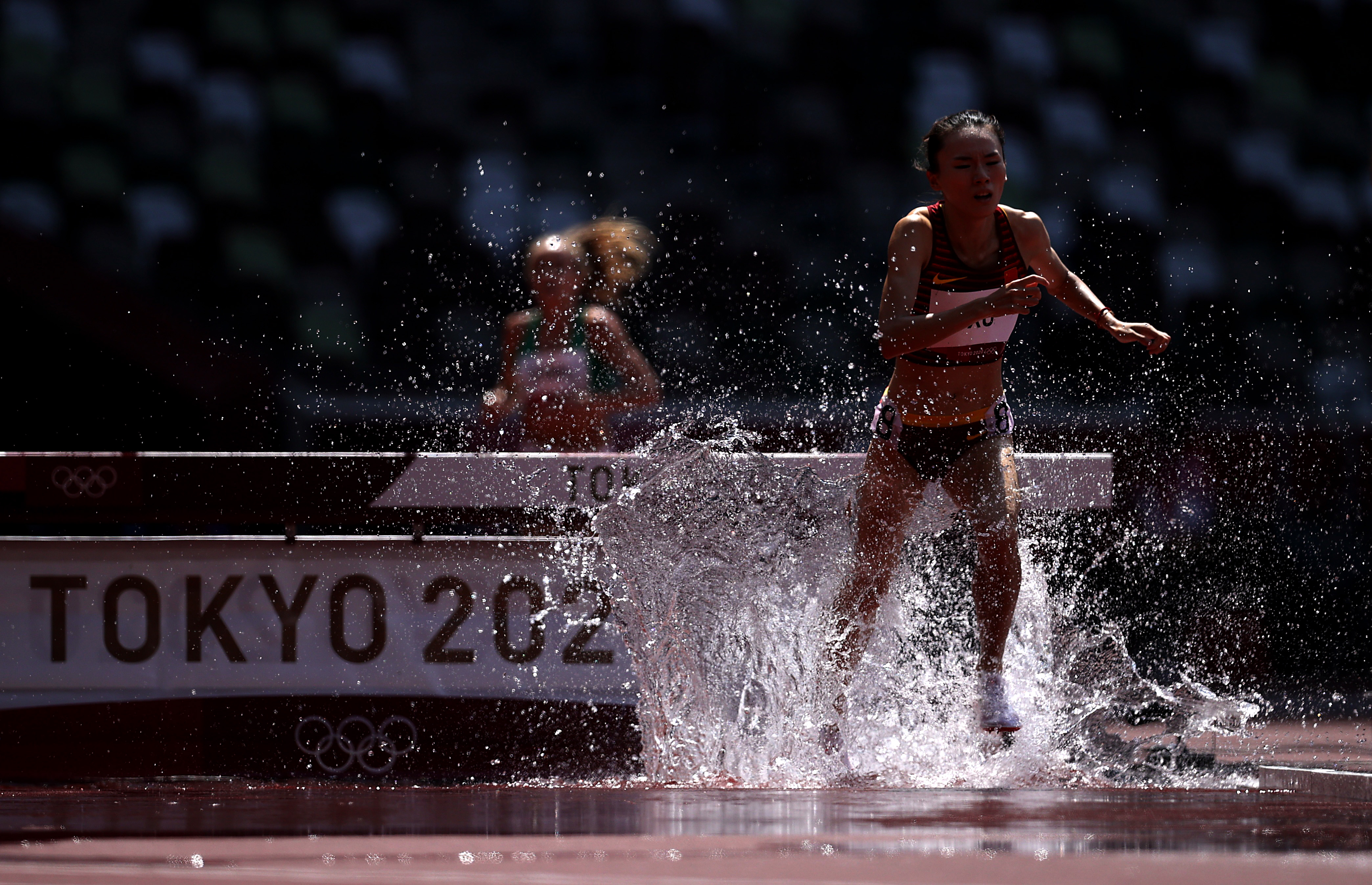 Tokyo 2020 Olympics - Athletics - Women's 3000m Steeplechase - Round 1 - OLS - Olympic Stadium, Tokyo, Japan – August 1, 2021. Xu Shuangshuang of China in action REUTERS/Hannah Mckay