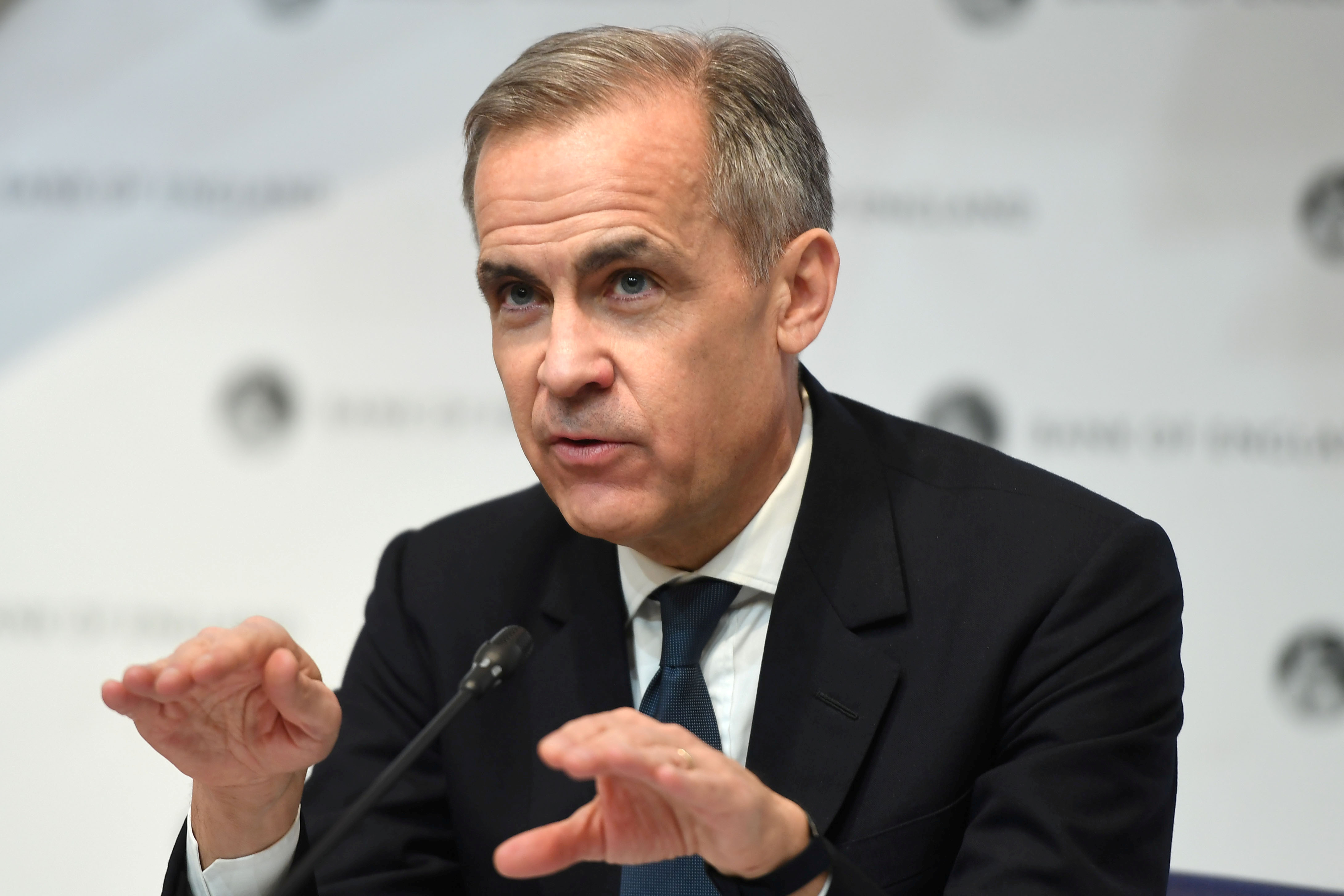 Mark Carney, Governor of the Bank of England (BOE) attends a news conference at Bank Of England in London, Britain March 11, 2020. Peter Summers/Pool via REUTERS