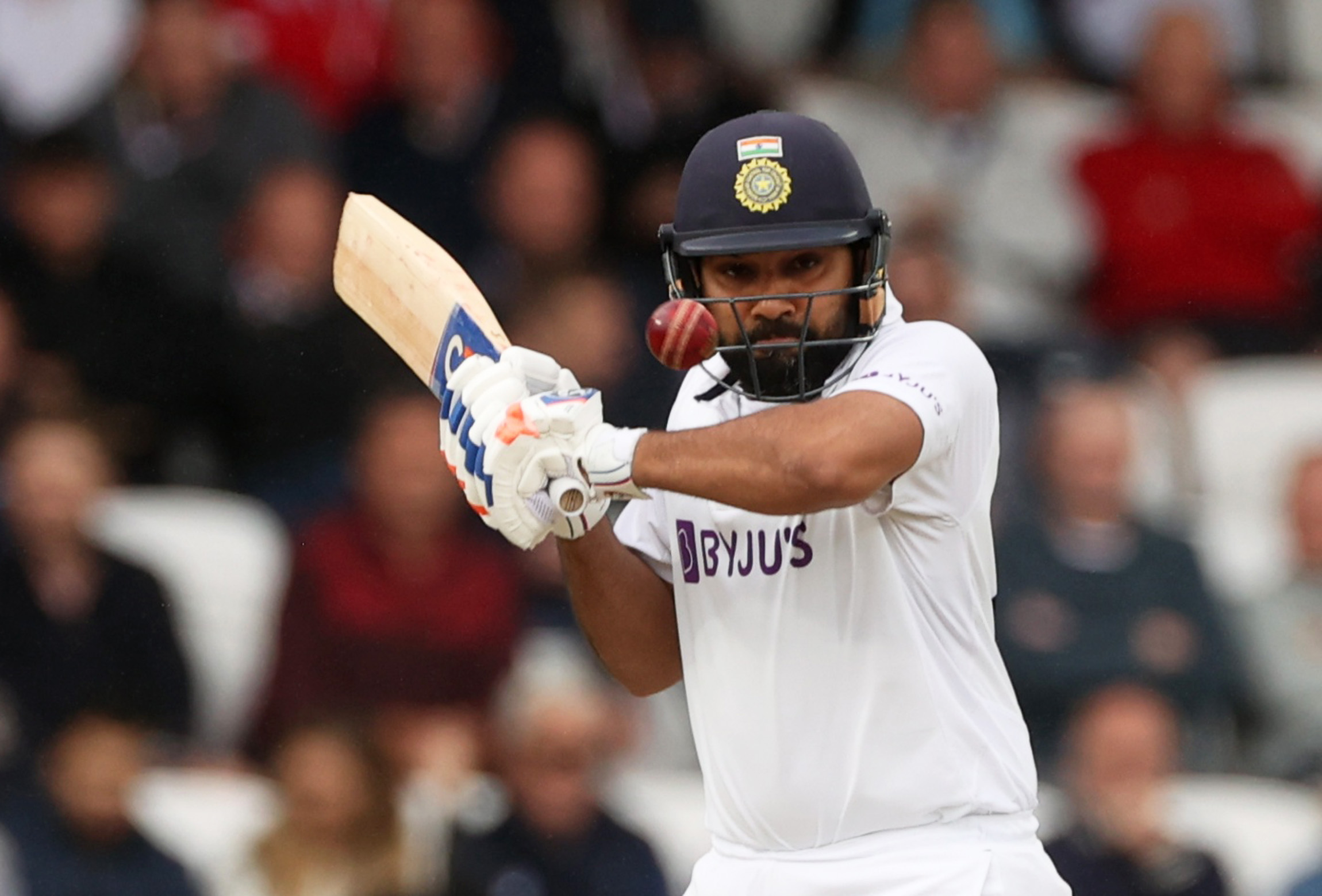 Cricket - Third Test - England v India - Headingley, Leeds, Britain - August 27, 2021 India's Rohit Sharma in action Action Images via Reuters/Lee Smith