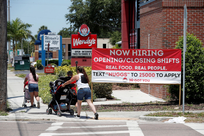 A Wendy's restaurant displays a