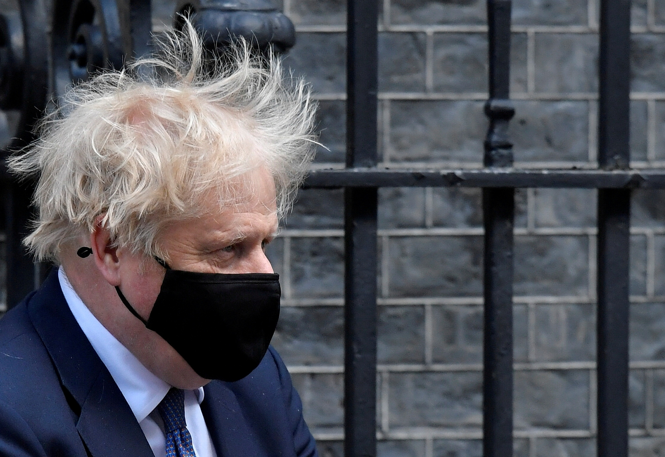 Britain's Prime Minister Boris Johnson leaves Downing Street in London, Britain, May 19, 2021. REUTERS/Toby Melville/File Photo