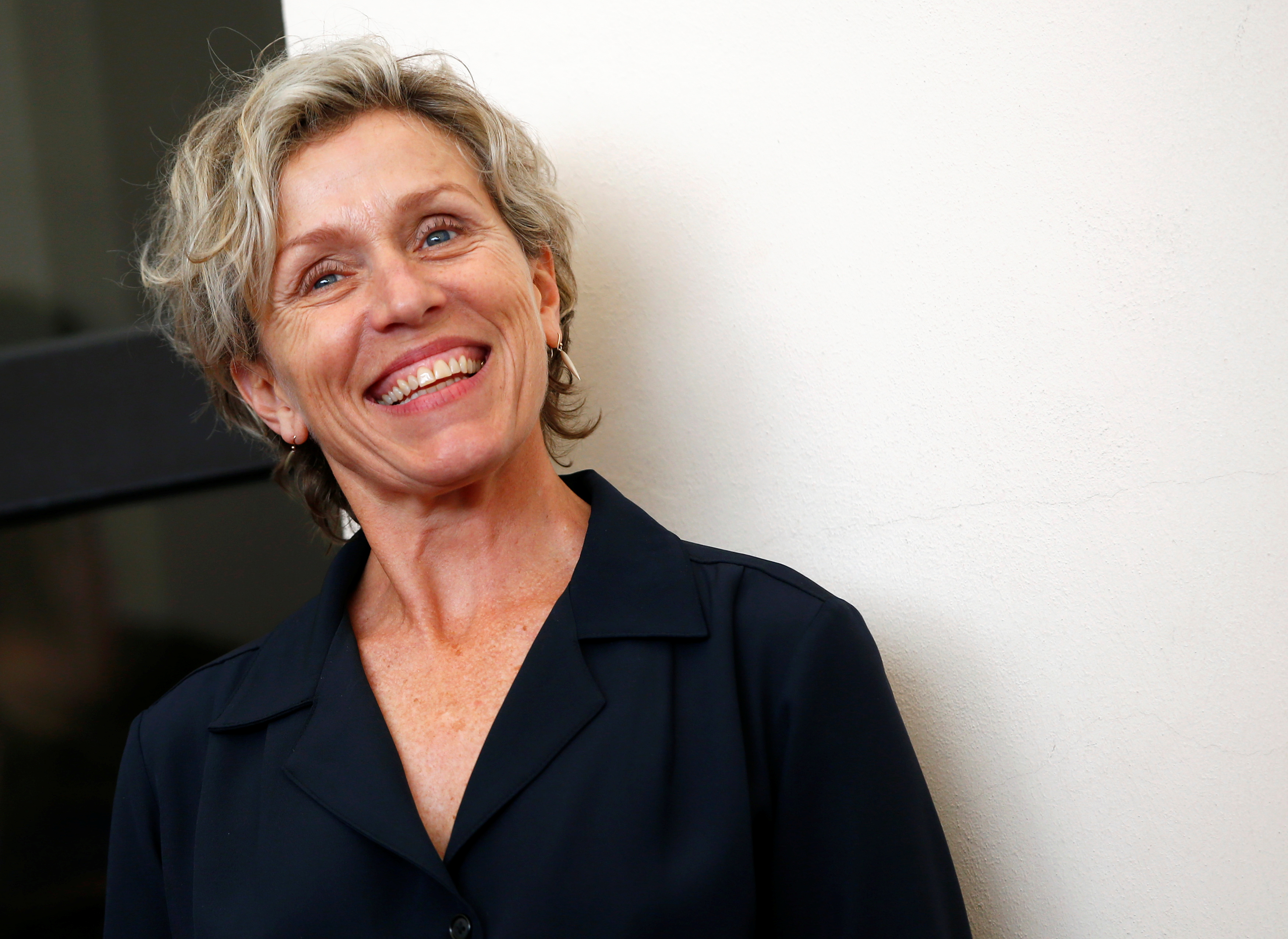 Cast member Frances McDormand poses during a photocall for the TV mini-series