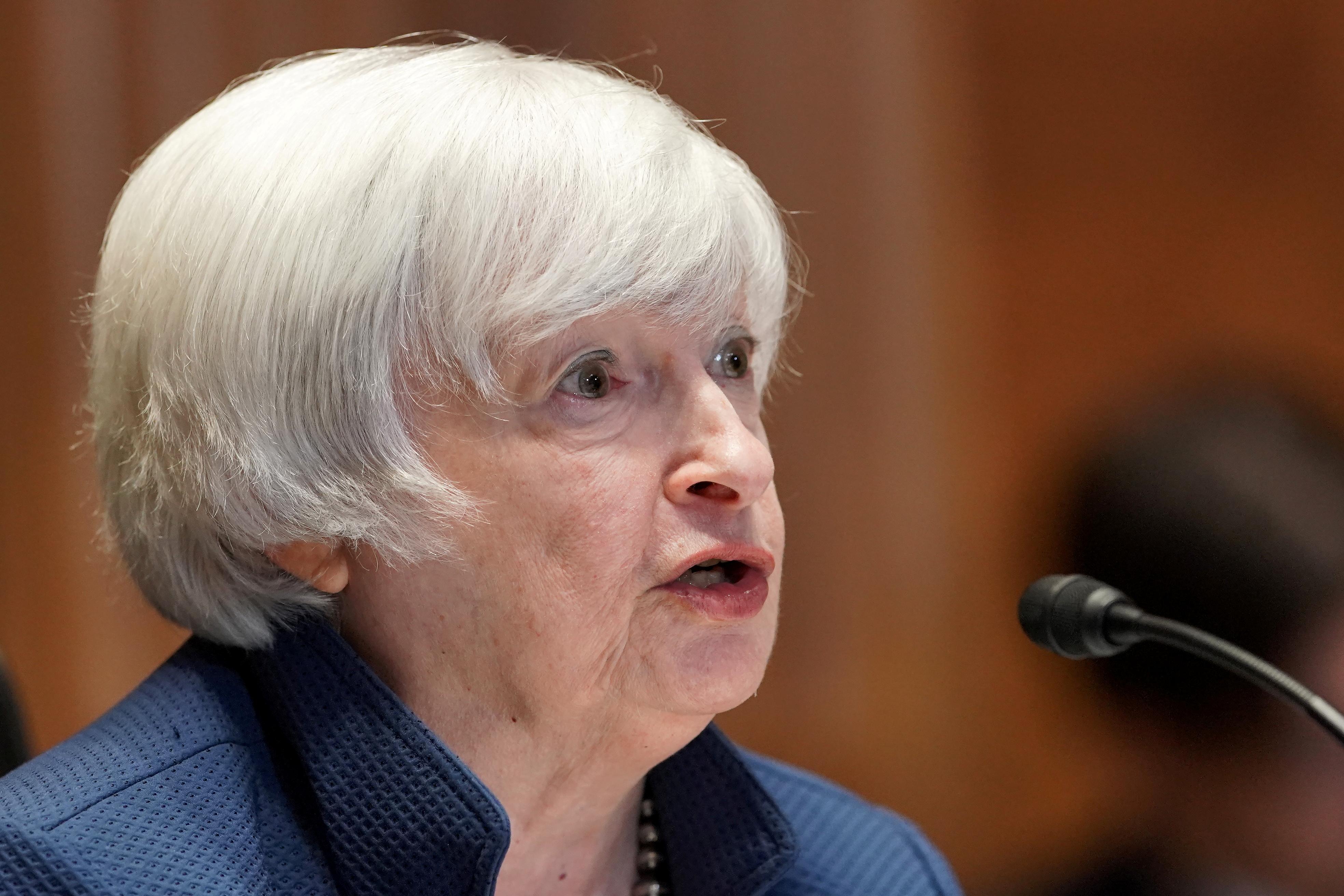 Yellen says without debt limit hike, U.S. could face August default risk