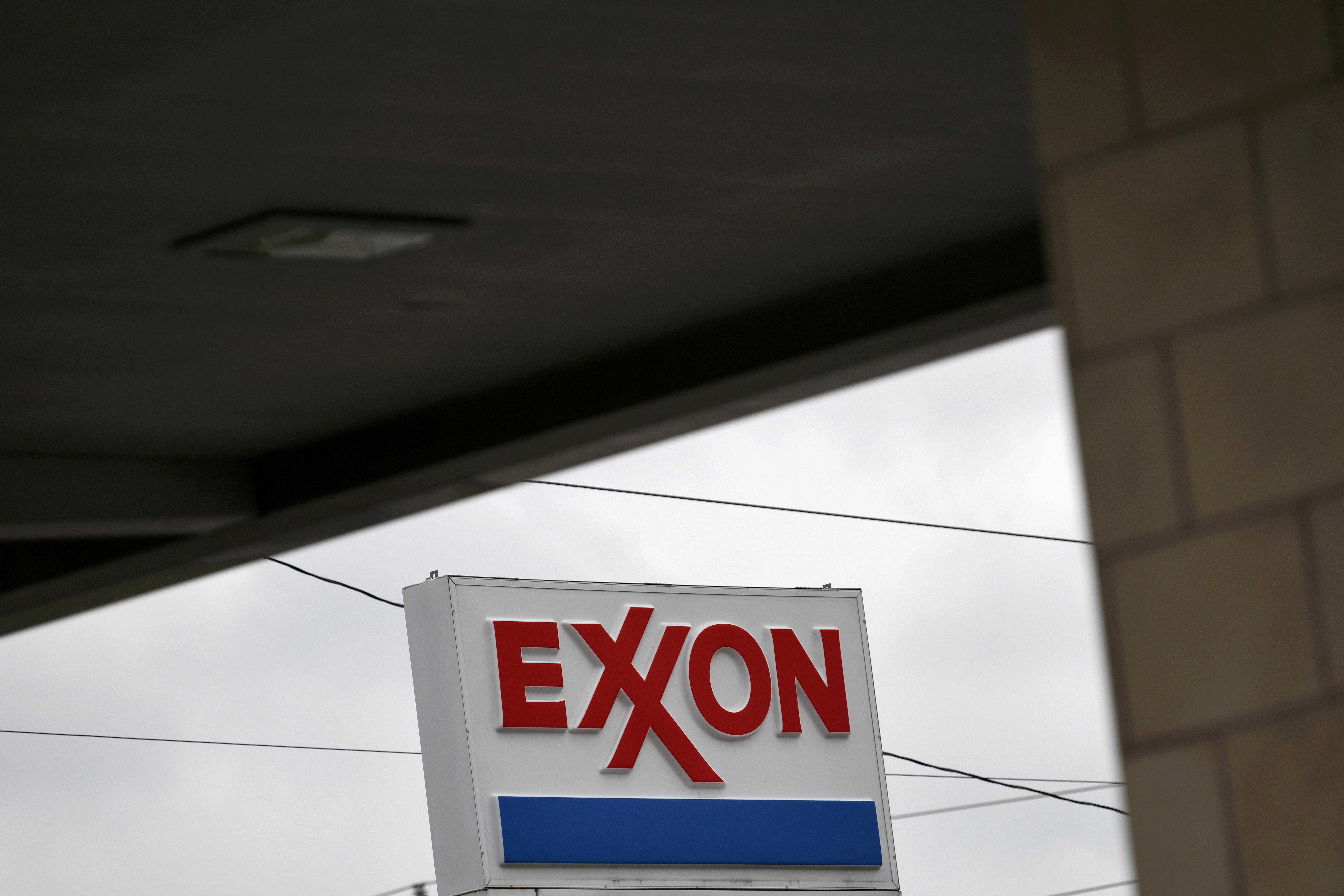 An Exxon gas station is seen in Houston, Texas, U.S., April 30, 2019.  REUTERS/Loren Elliott