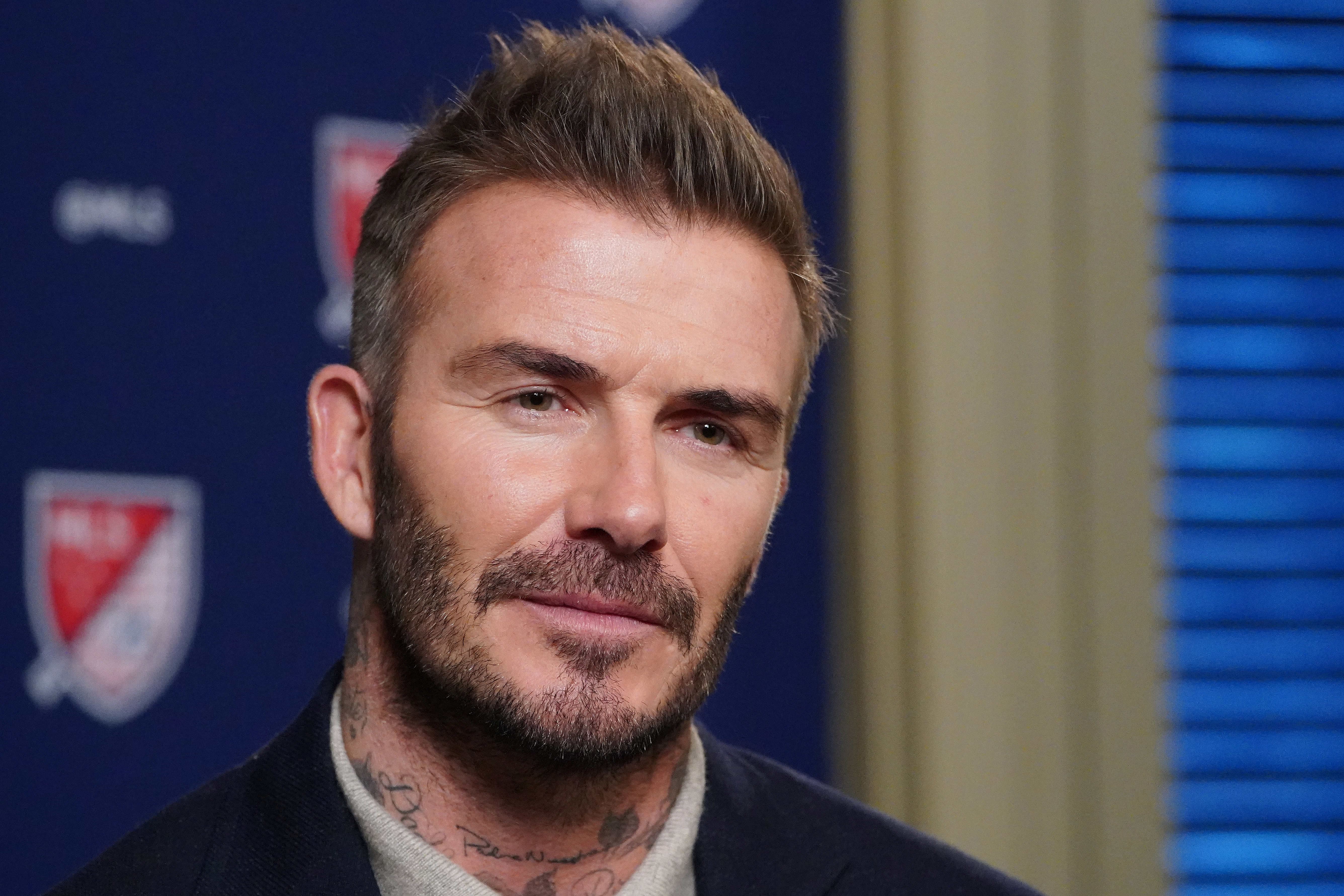 Former soccer player and MLS team owner David Beckham speaks during an interview in the Manhattan borough of New York City, New York, U.S., February 26, 2020. REUTERS/Carlo Allegri/File photo