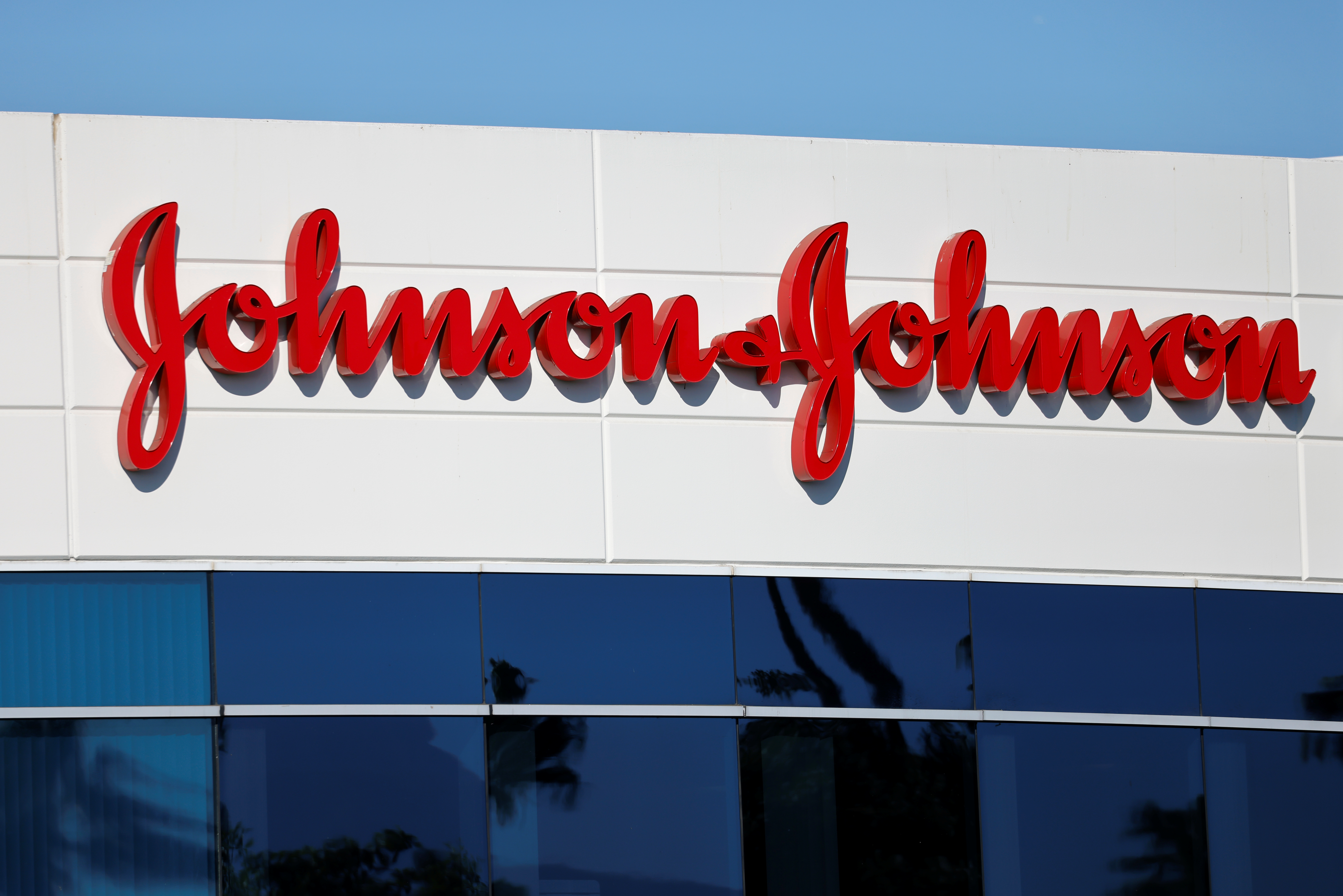 Johnson & Johnson company offices are shown in Irvine, California, U.S., October 14, 2020.   REUTERS/Mike Blake