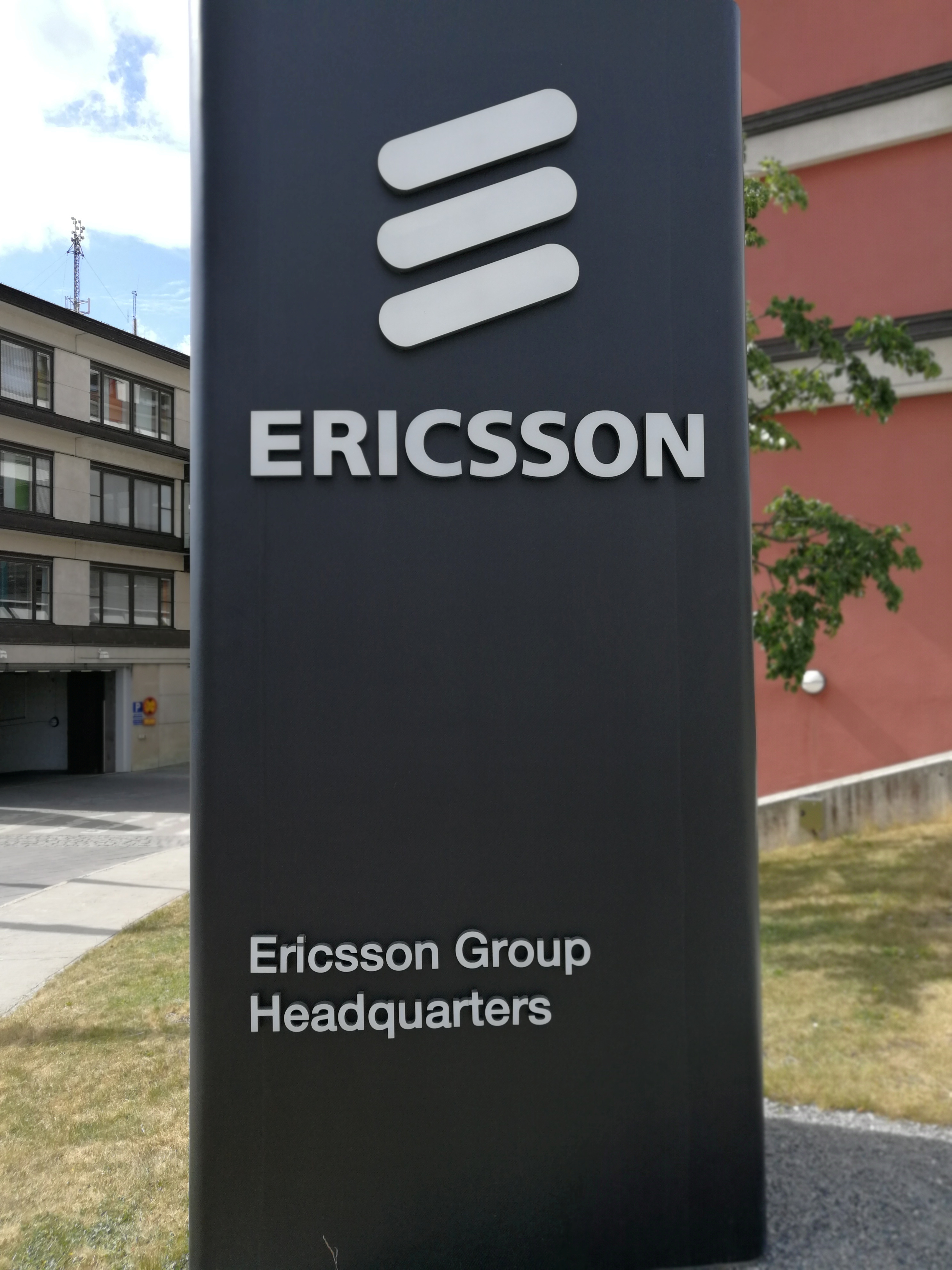 The Ericsson logo is seen at the Ericsson's headquarters in Stockholm, Sweden June 14, 2018. Picture taken June 14, 2018. REUTERS/Olof Swahnberg