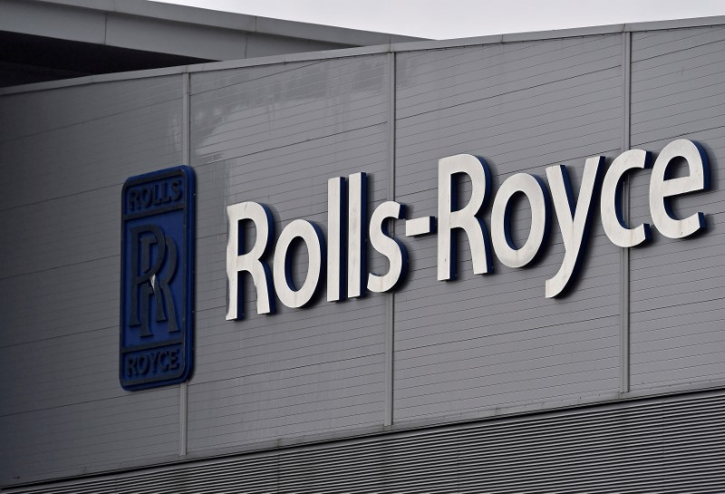 A Rolls-Royce logo is seen at the company's aerospace engineering and development site in Bristol, Britain, December 17, 2015.  REUTERS/Toby Melville/File Photo