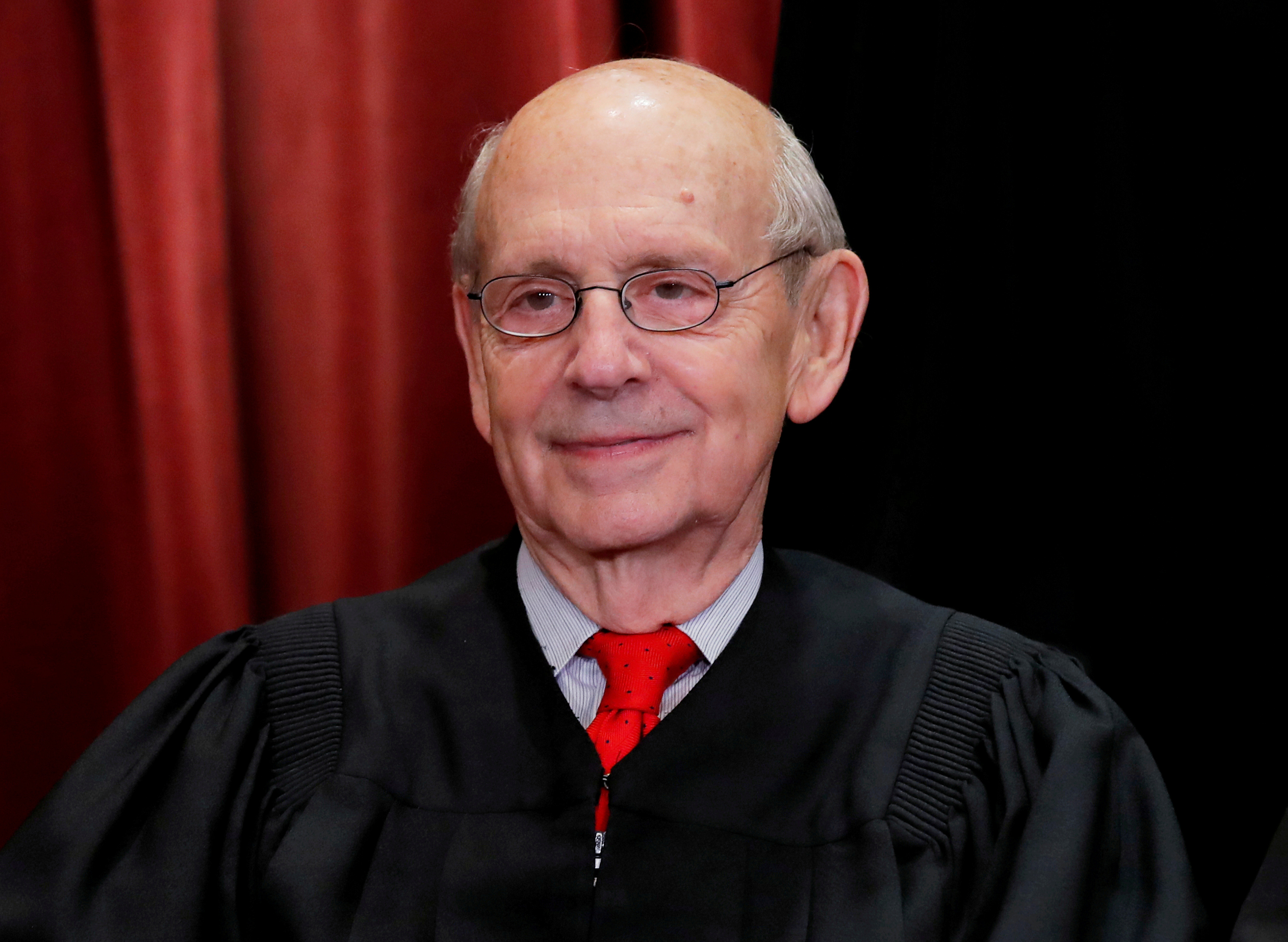 U.S. Supreme Court Associate Justice Stephen Breyer is seen during a group portrait session for the new full court at the Supreme Court in Washington, U.S., November 30, 2018. REUTERS/Jim Young/File Photo