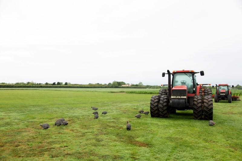 Farming equipment is seen on Foster Farm in Sagaponack, on New York's Long Island, U.S., July 8, 2019. Picture taken July 8, 2019.   REUTERS/Lindsay Morris