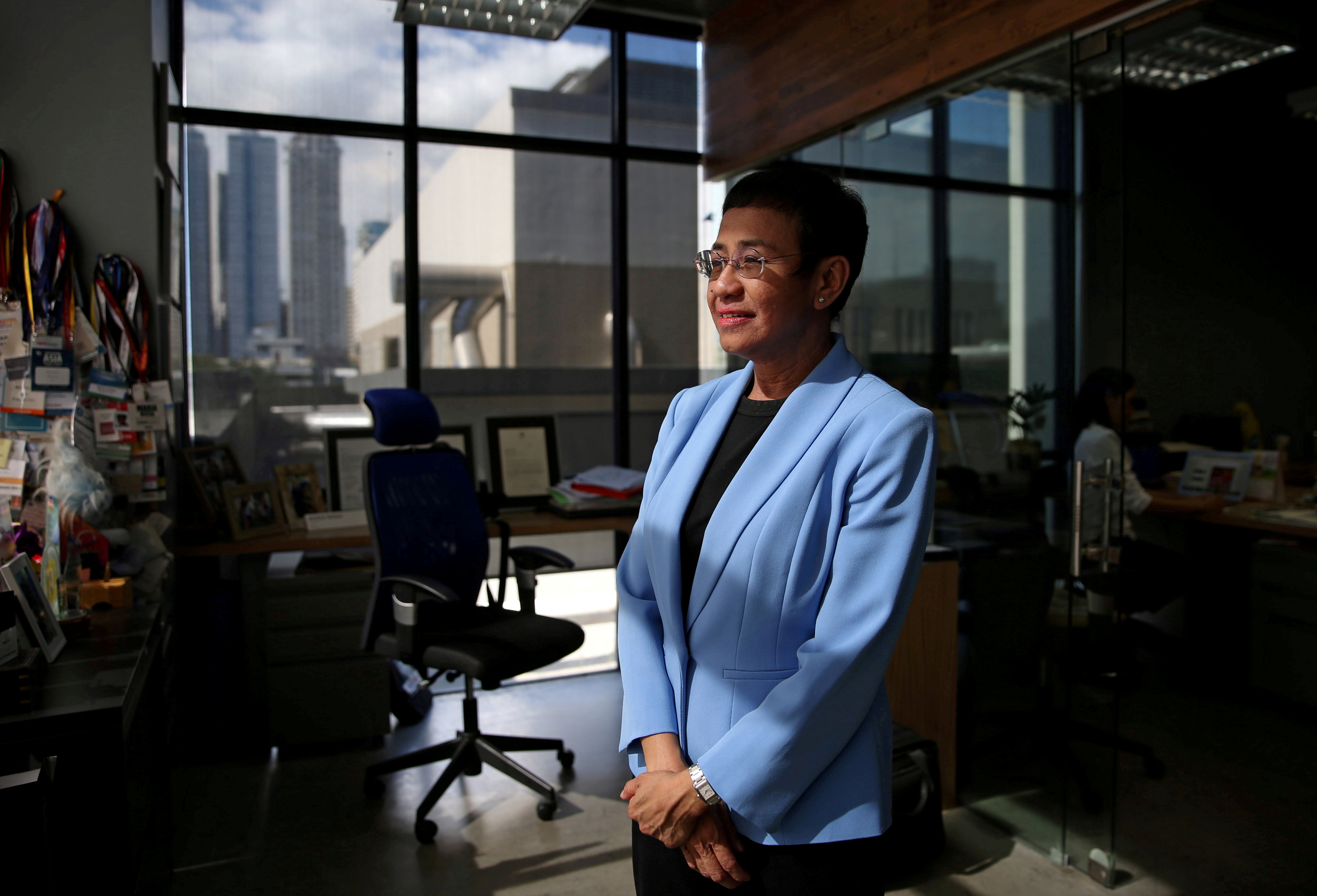 Maria Ressa, an executive of online news platform Rappler, poses at Rappler's office in Pasig City, Metro Manila, in Philippines, December 3, 2018. REUTERS/Eloisa Lopez//File Photo