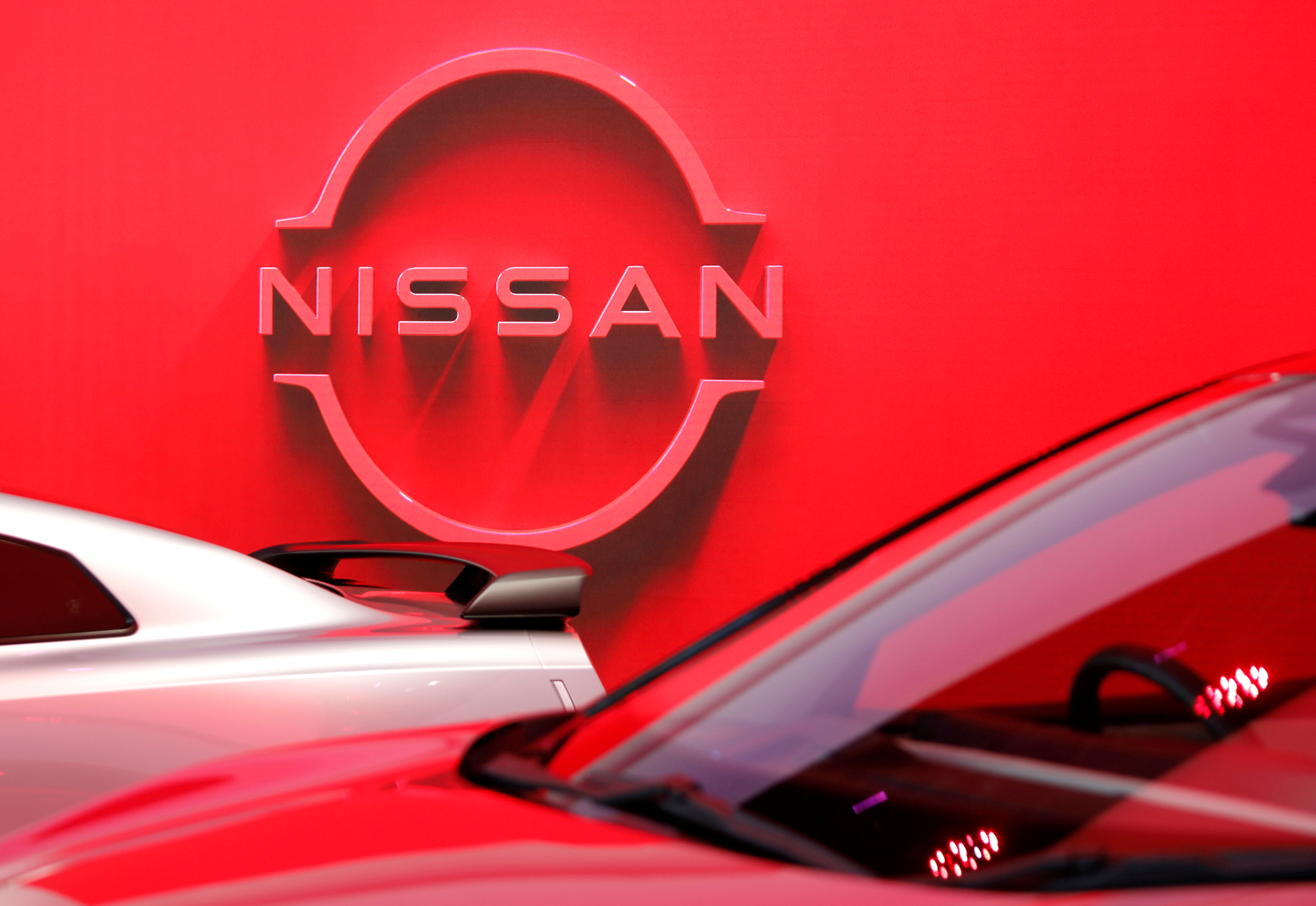 The logo of Nissan Motor Corp. is displayed the company's showroom in Tokyo, Japan November 11, 2020. REUTERS/Issei Kato
