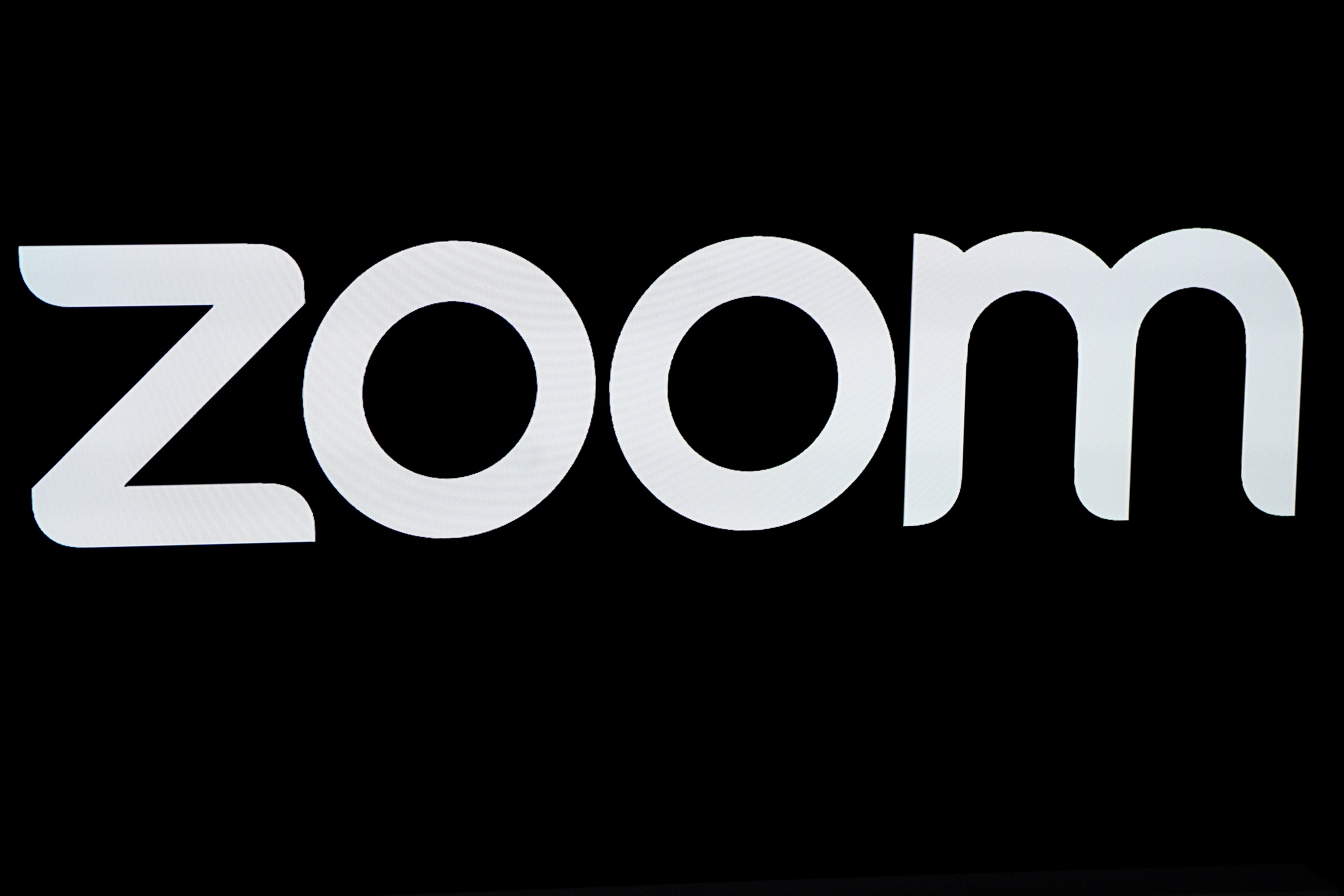The Zoom Video Communications logo is pictured at the NASDAQ MarketSite in New York, U.S. REUTERS/Carlo Allegri