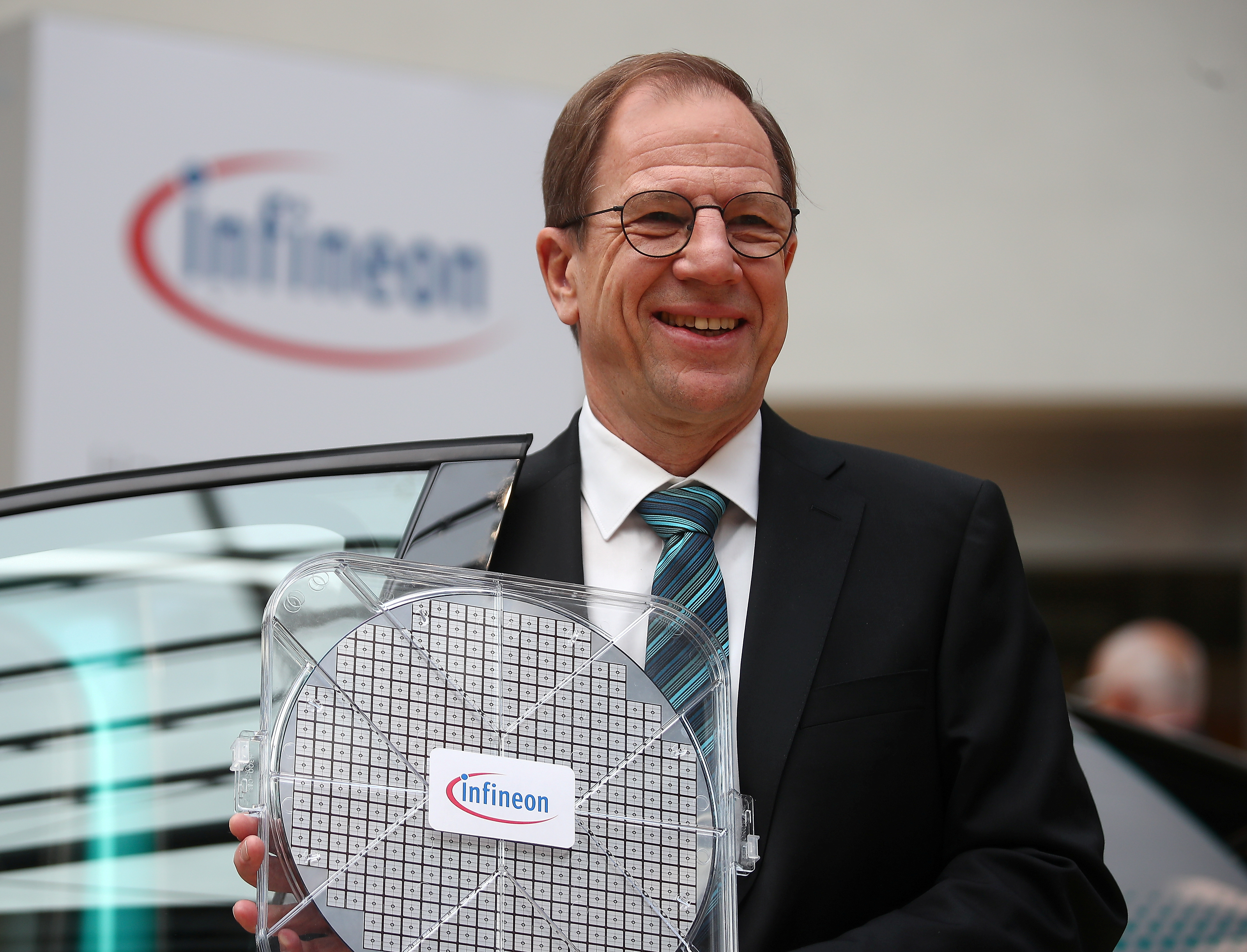 Reinhard Ploss, CEO of German semiconductor manufacturer Infineon poses before the company's annual shareholder meeting in Munich, Germany, February 20, 2020   REUTERS/Michael Dalder/File Photo