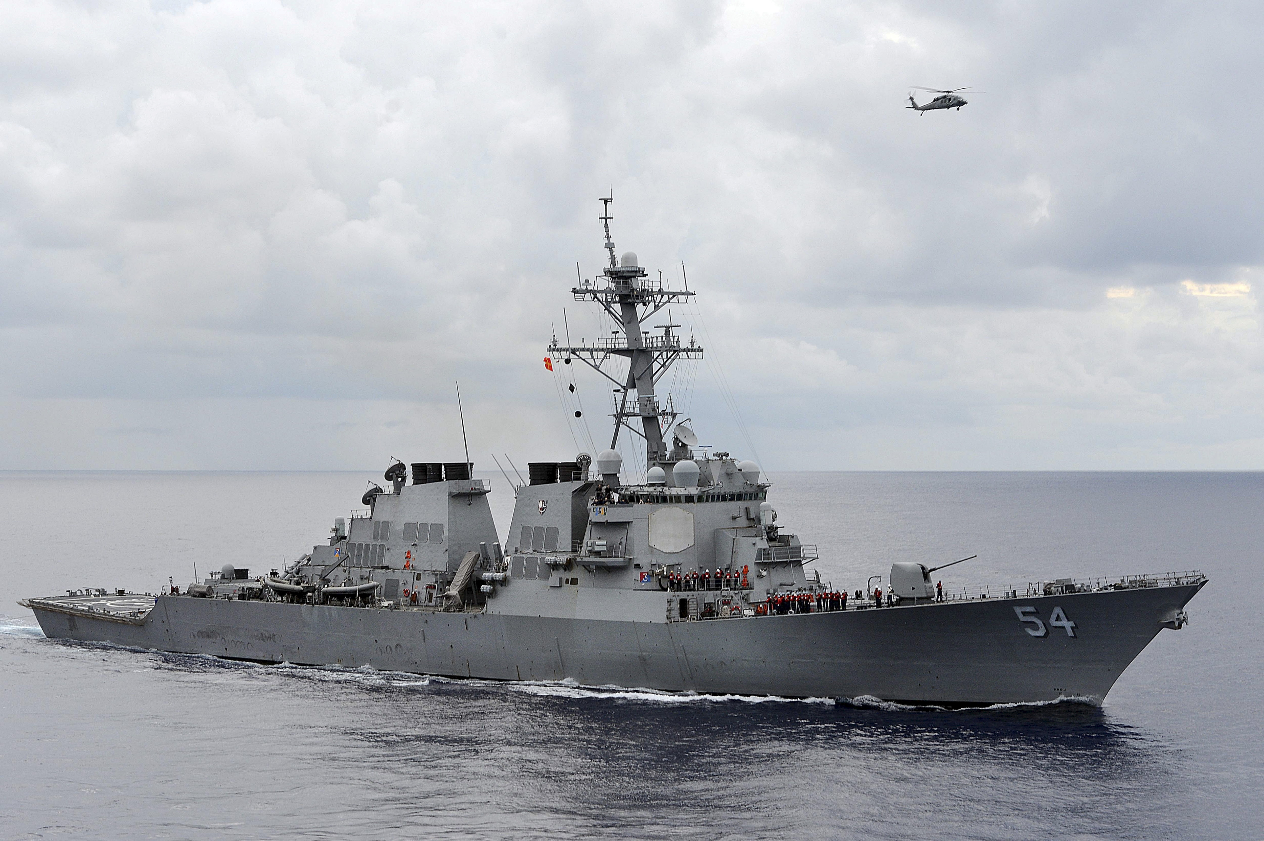 The U.S. Navy guided-missile destroyer USS Curtis Wilbur patrols in the Philippine Sea in this August 15, 2013 file photo. REUTERS/U.S. Navy/Mass Communication Specialist 3rd Class Declan Barnes/Handout via Reuters
