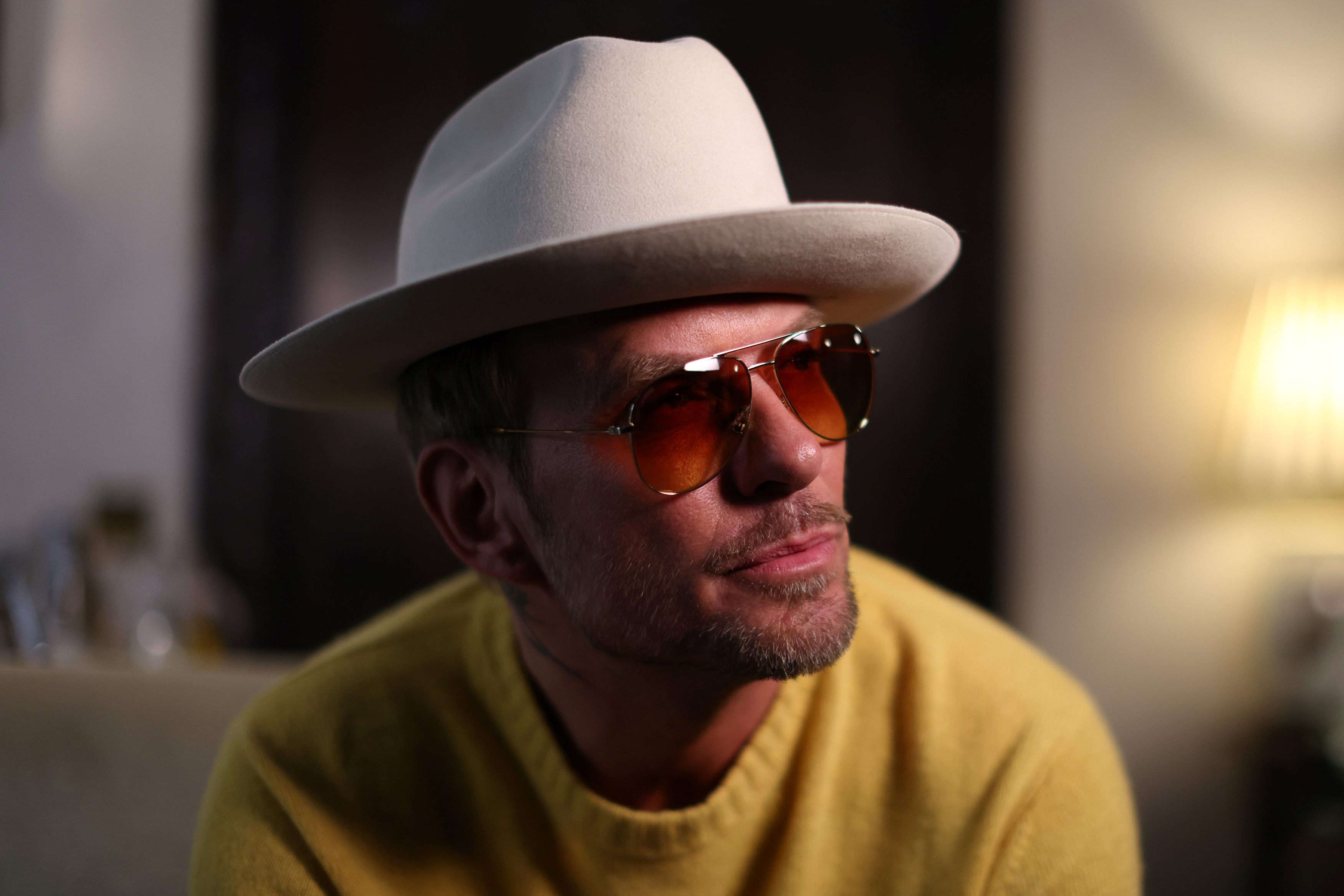 Matt Goss poses for a portrait after an interview at the Dorchester Hotel in London, Britain, October 5, 2021. Picture taken October 5, 2021. REUTERS/Tom Nicholson