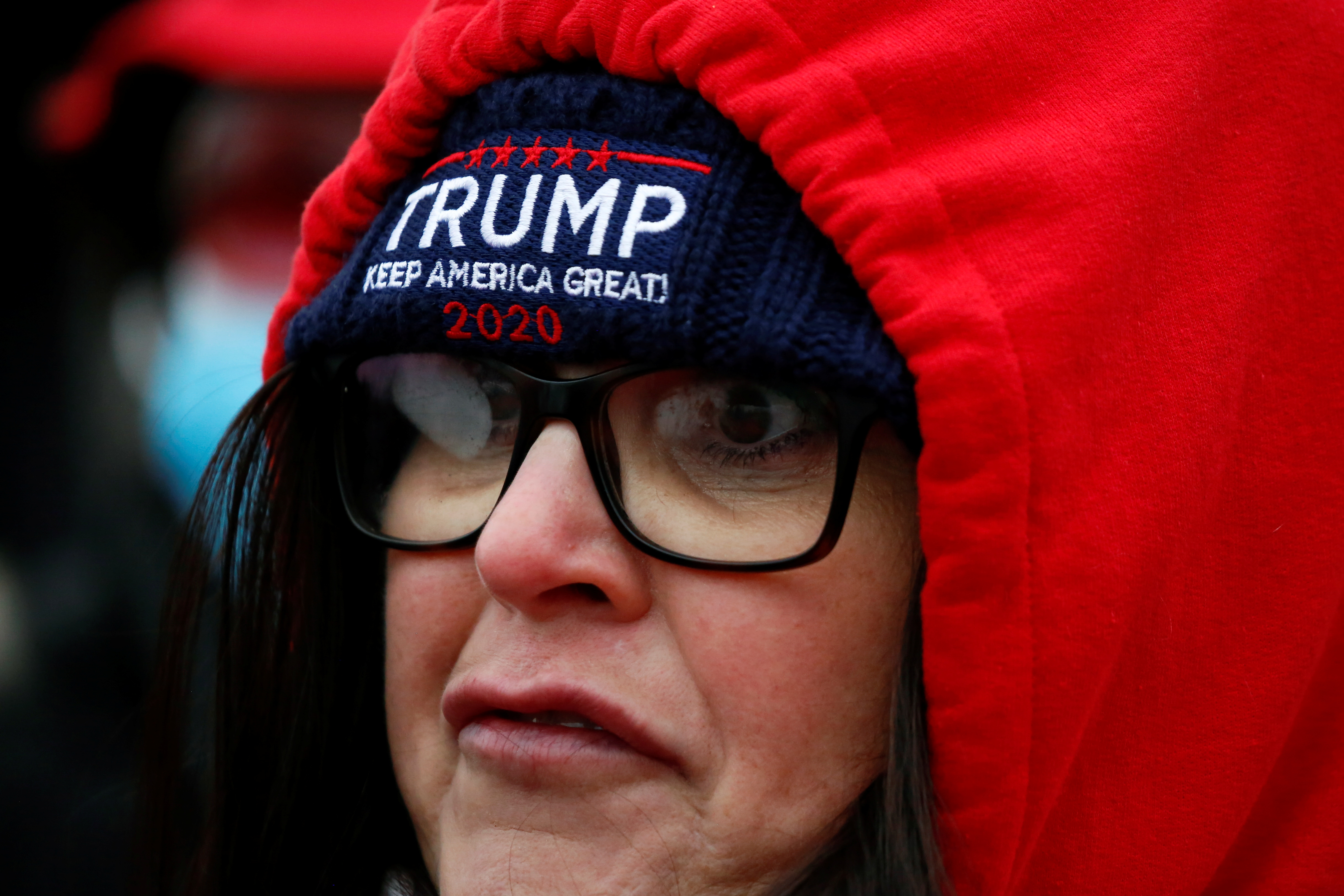 A supporter of U.S. President Donald Trump protests against the certification of the 2020 U.S. presidential election results by the U.S. Congress in front of the U.S. Capitol Building, in Washington, U.S., January 6, 2021. REUTERS/Jim Urquhart
