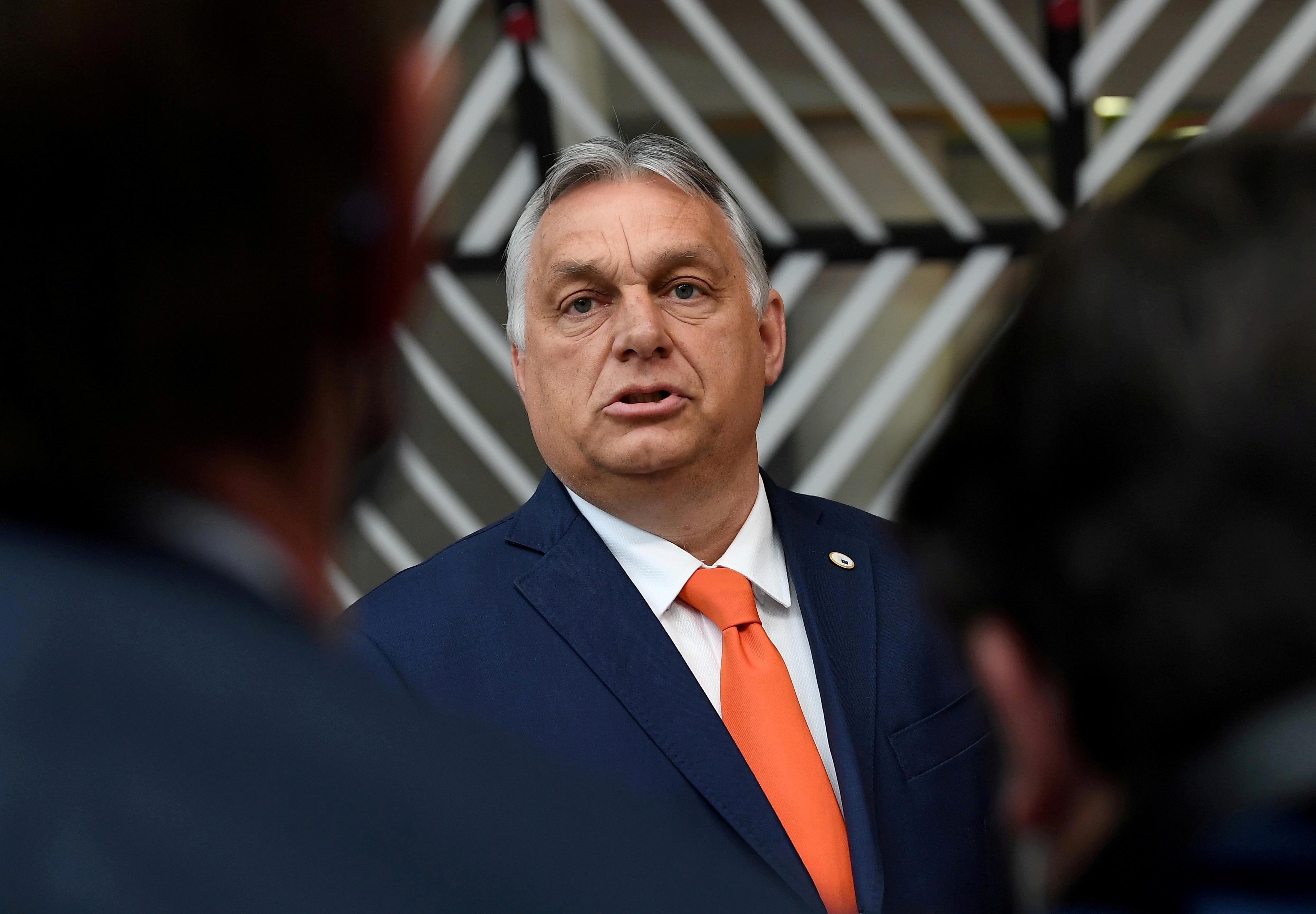 Hungary's Prime Minister Viktor Orban in Brussels, Belgium June 24, 2021. John Thys/Pool via REUTERS