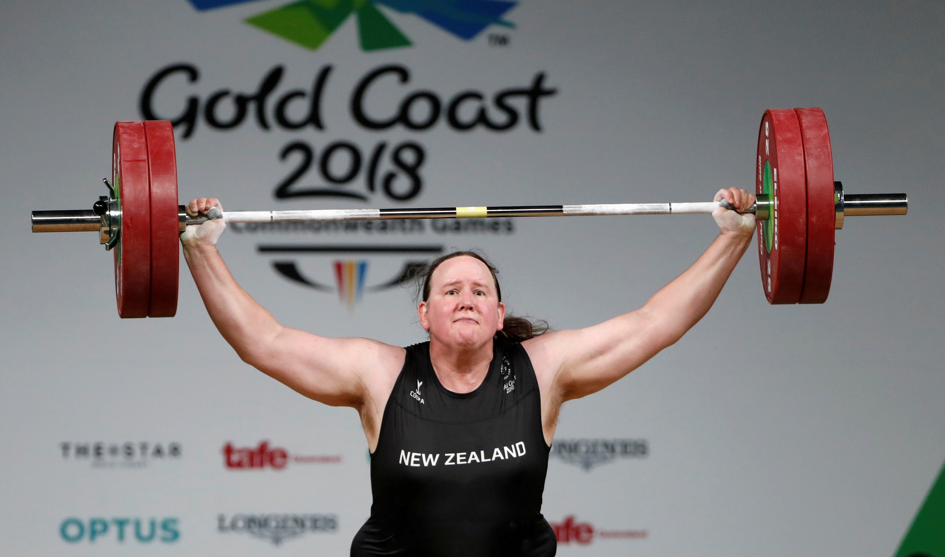 FILE PHOTO: Weightlifting - Gold Coast 2018 Commonwealth Games - Women's +90kg - Final - Carrara Sports Arena 1 - Gold Coast, Australia - April 9, 2018. Laurel Hubbard of New Zealand competes. REUTERS/Paul Childs/File Photo/File Photo