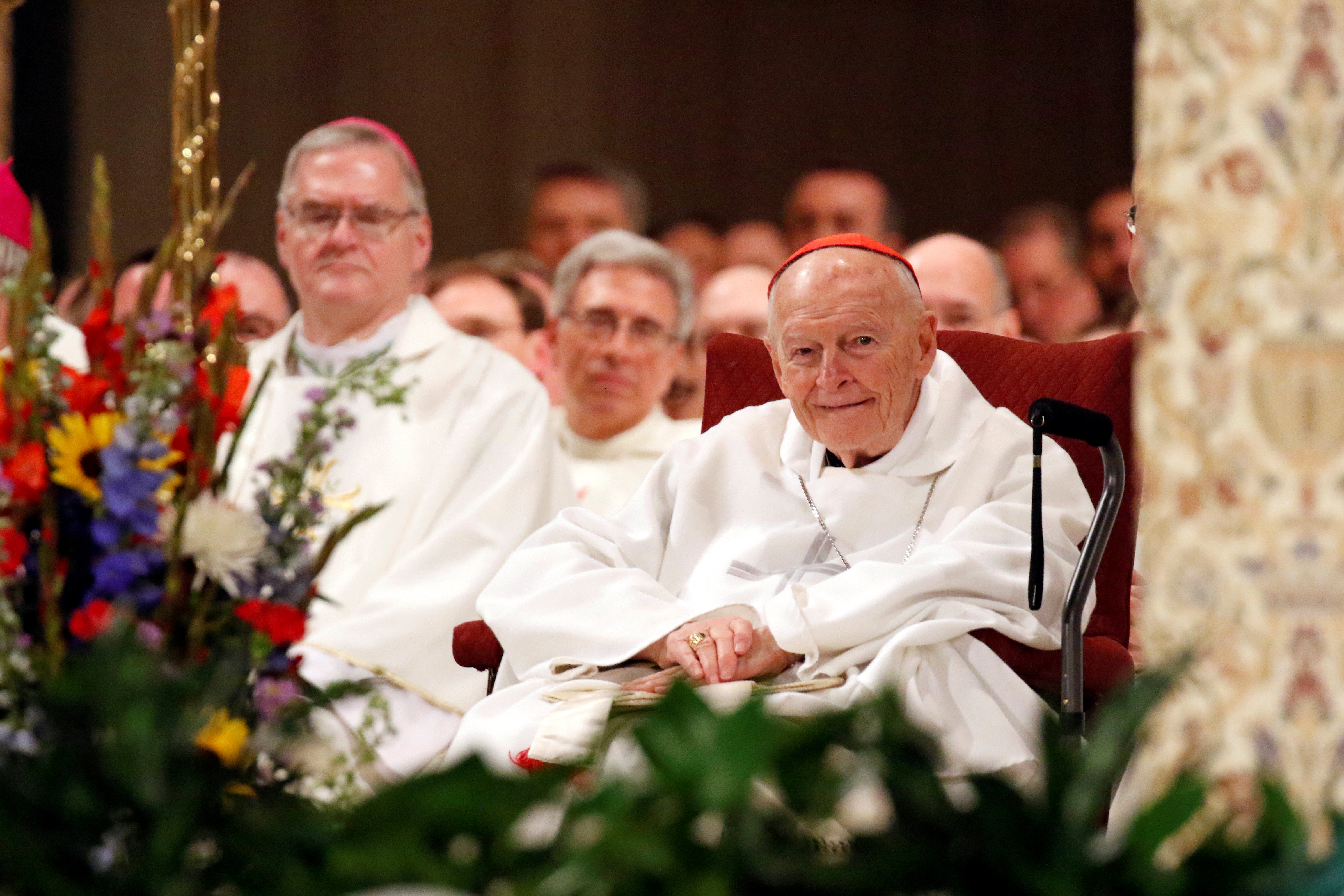 Cardinal Theodore E. McCarrick, retired archbishop of Washington, is seen during a Mass at Basilica of the National Shrine of the Immaculate Conception in Washington, U.S., January 26, 2017. Picture taken January 26, 2017.   REUTERS/Gregory A. Shemitz