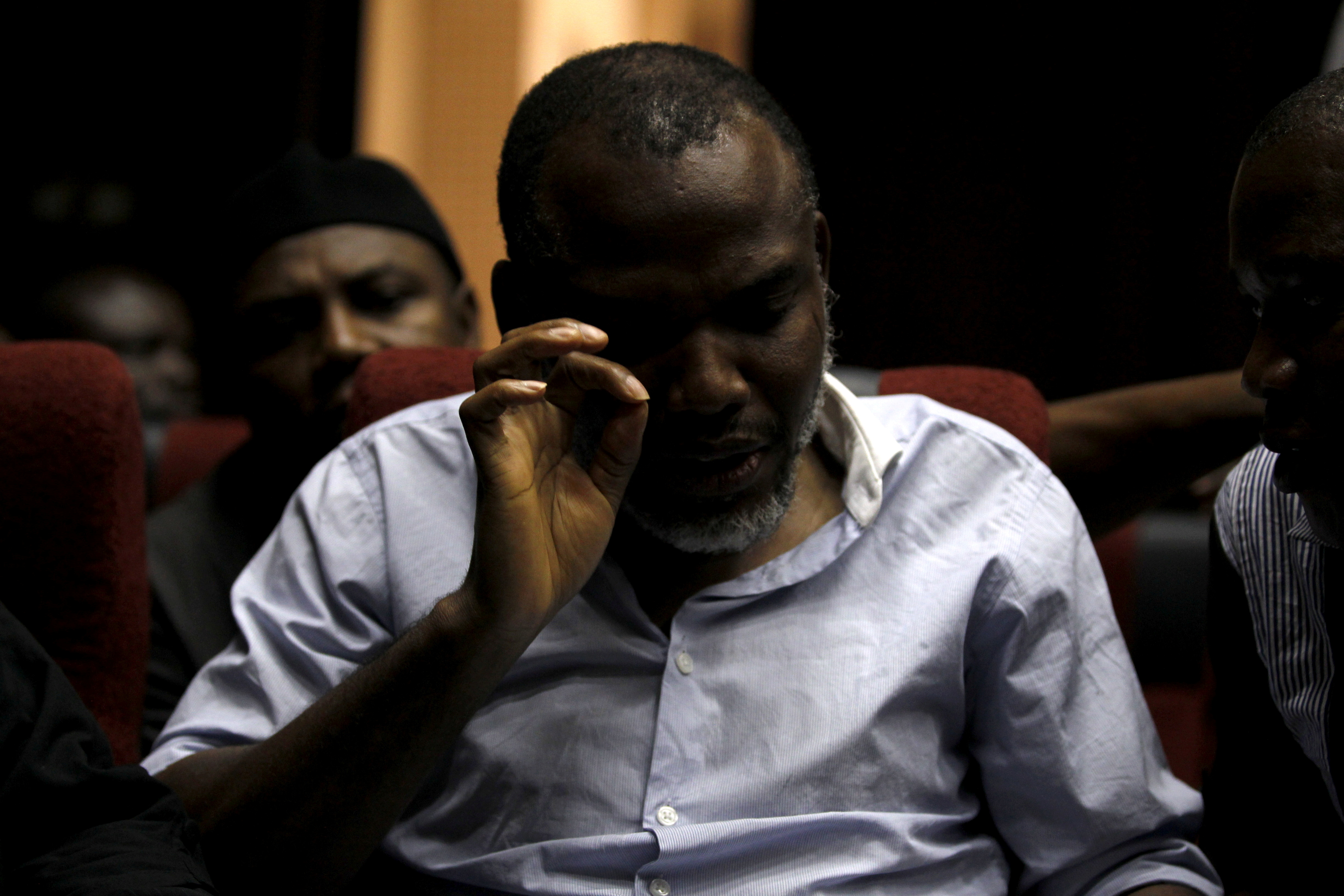 Indigenous People of Biafra (IPOB) leader Nnamdi Kanu is seen at the Federal High Court in Abuja, Nigeria, January 20, 2016.  REUTERS/Afolabi Sotunde/File Photo