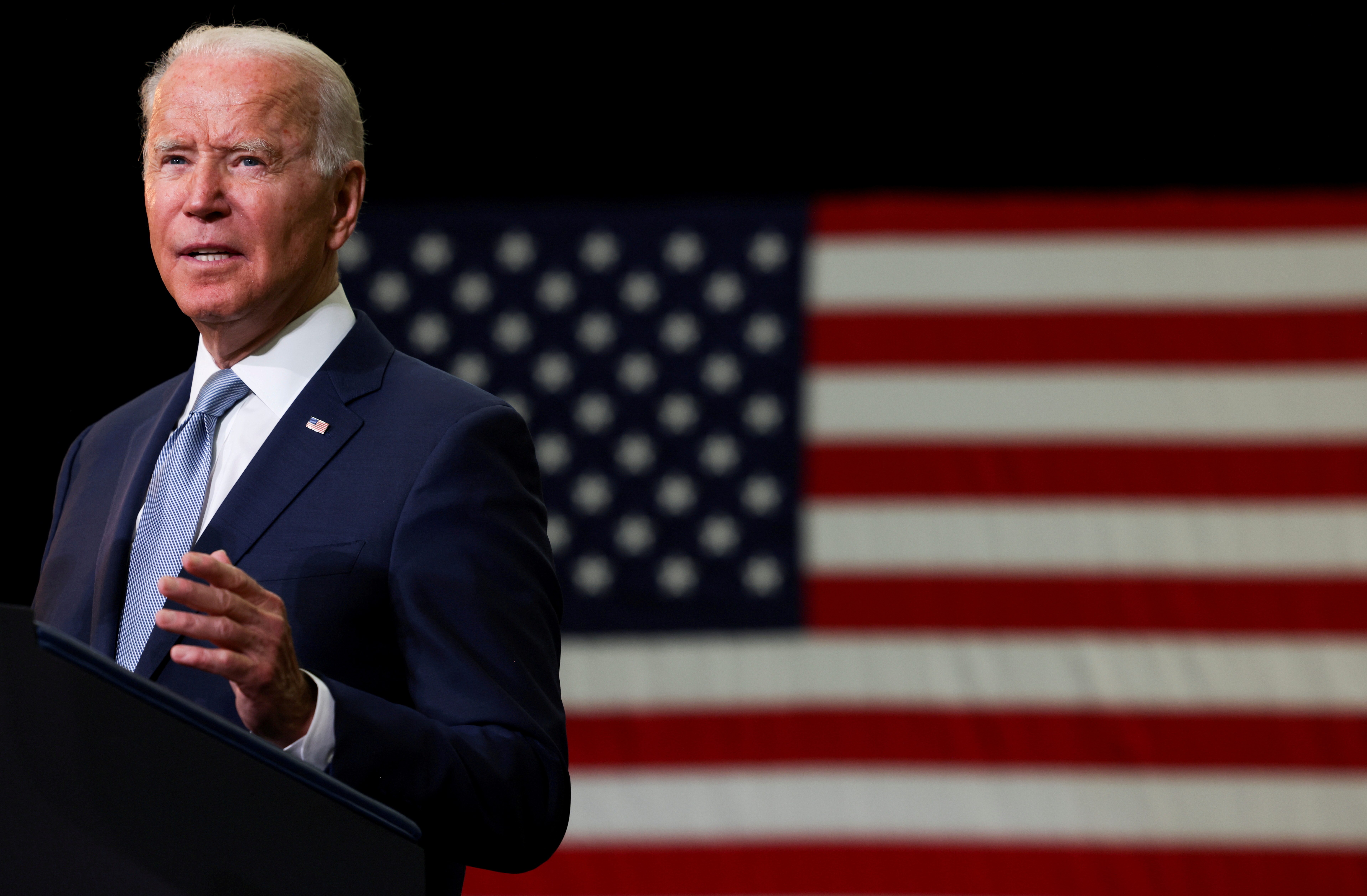 U.S. President Joe Biden delivers remarks on his proposed