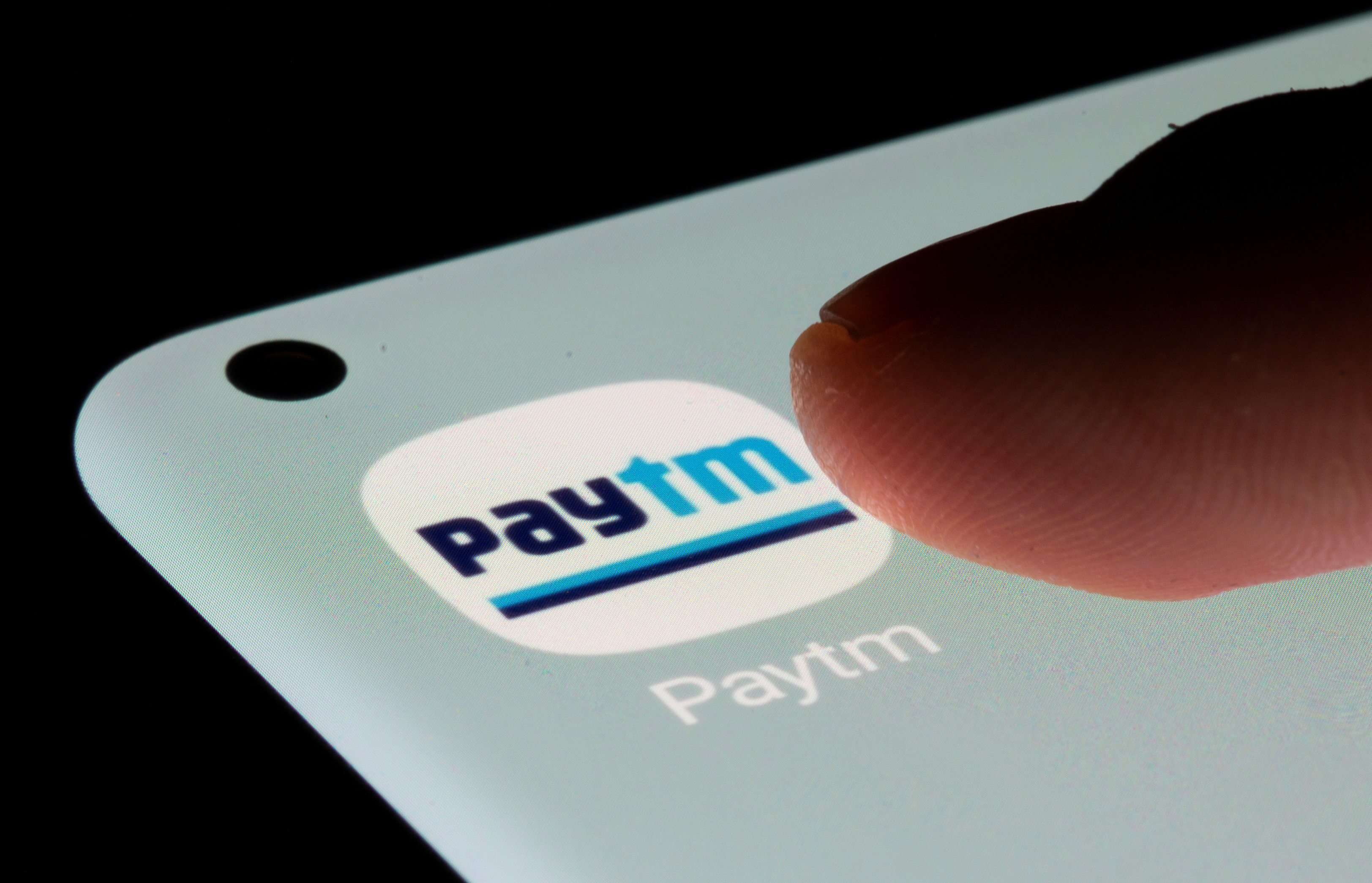 Paytm app is seen on a smartphone in this illustration taken, July 13, 2021. REUTERS/Dado Ruvic/Illustration