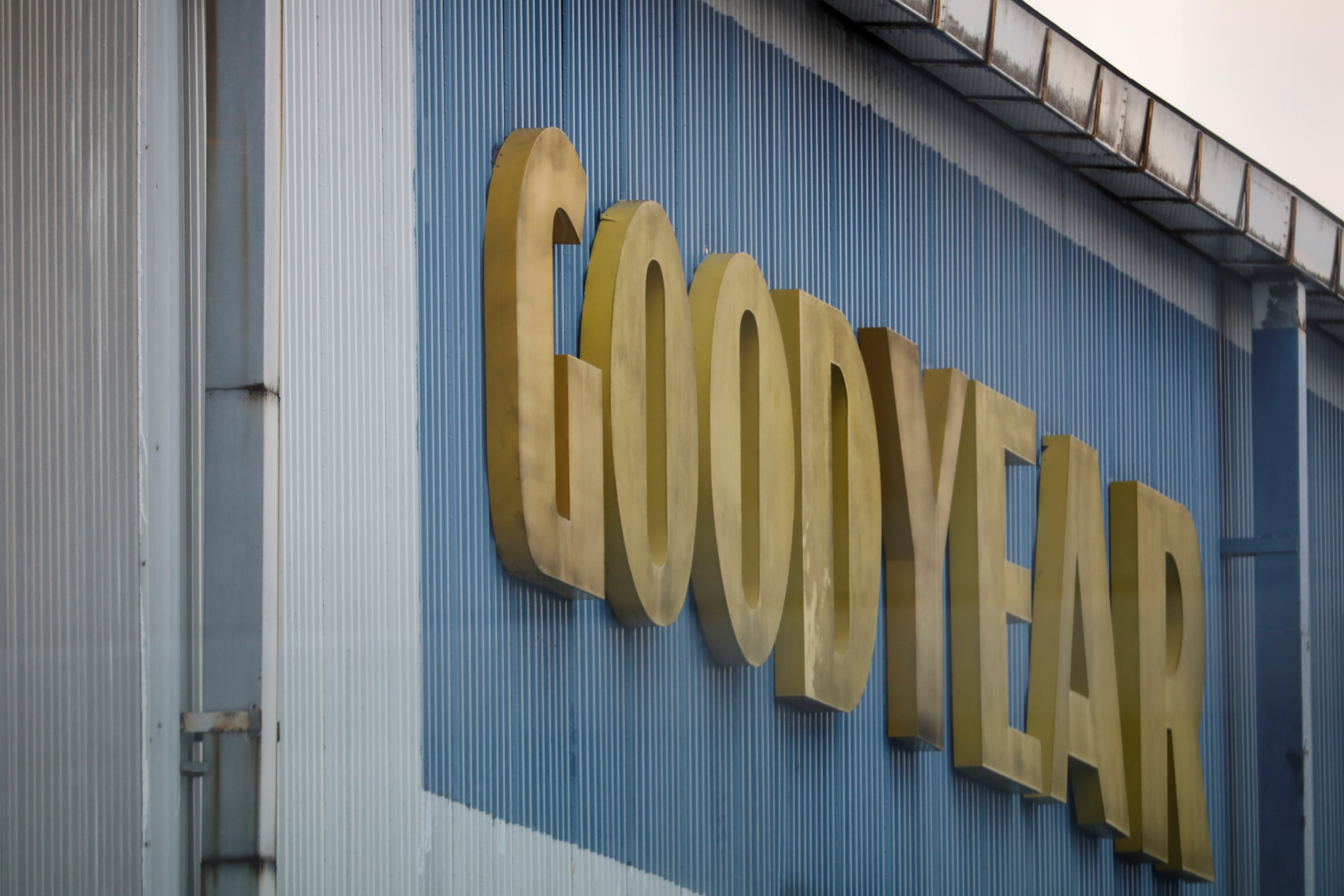 A logo of Goodyear is pictured at it's factory in Shah Alam, Malaysia May 6, 2021. REUTERS/Lim Huey Teng