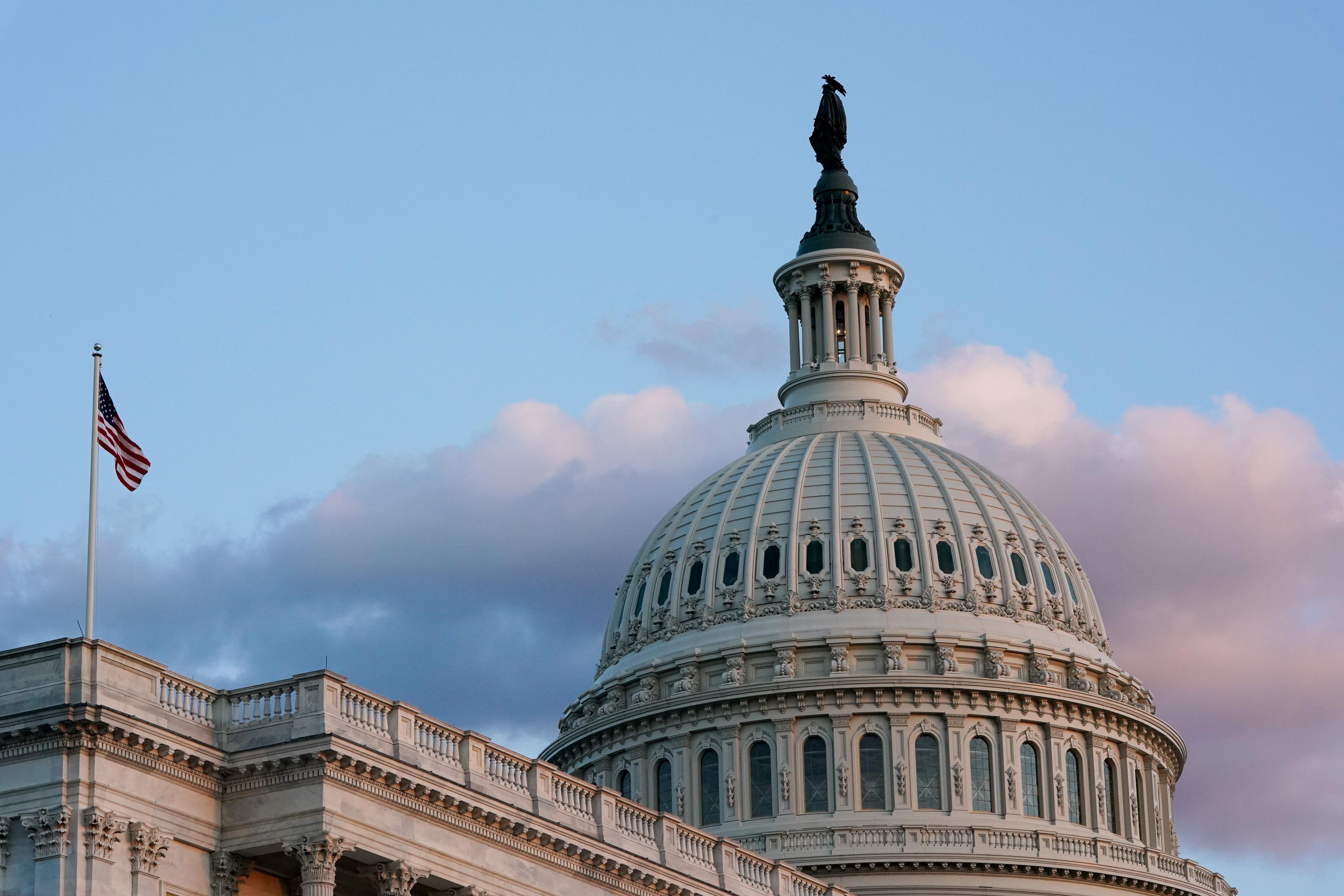 The U.S. Capitol building on Capitol Hill, seen during sunset in Washington, U.S., September 30, 2021. REUTERS/Elizabeth Frantz/File Photo
