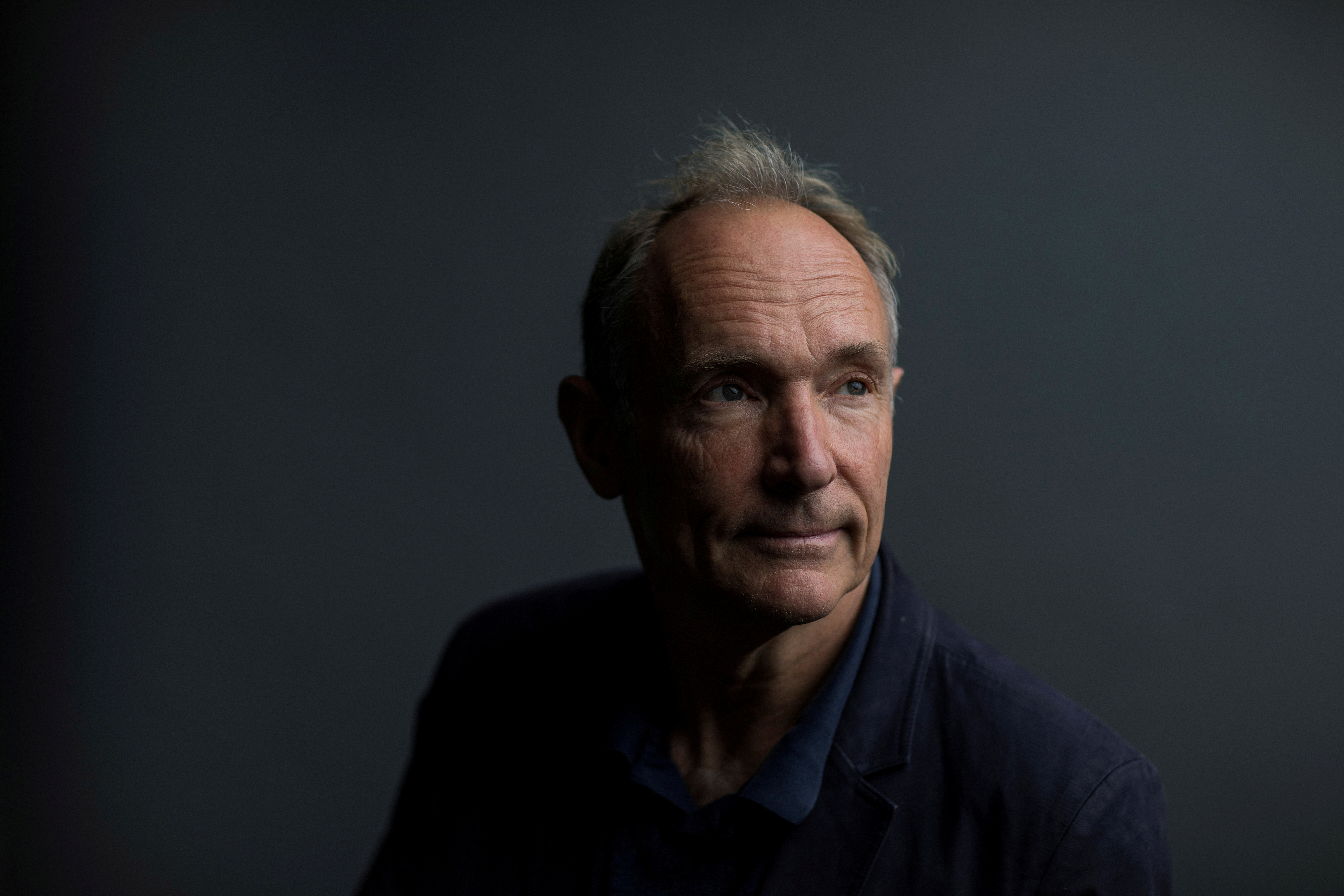 World Wide Web founder Tim Berners-Lee poses for a photograph following a speech at the Mozilla Festival 2018 in London, Britain October 27, 2018. REUTERS/Simon Dawson/File Photo