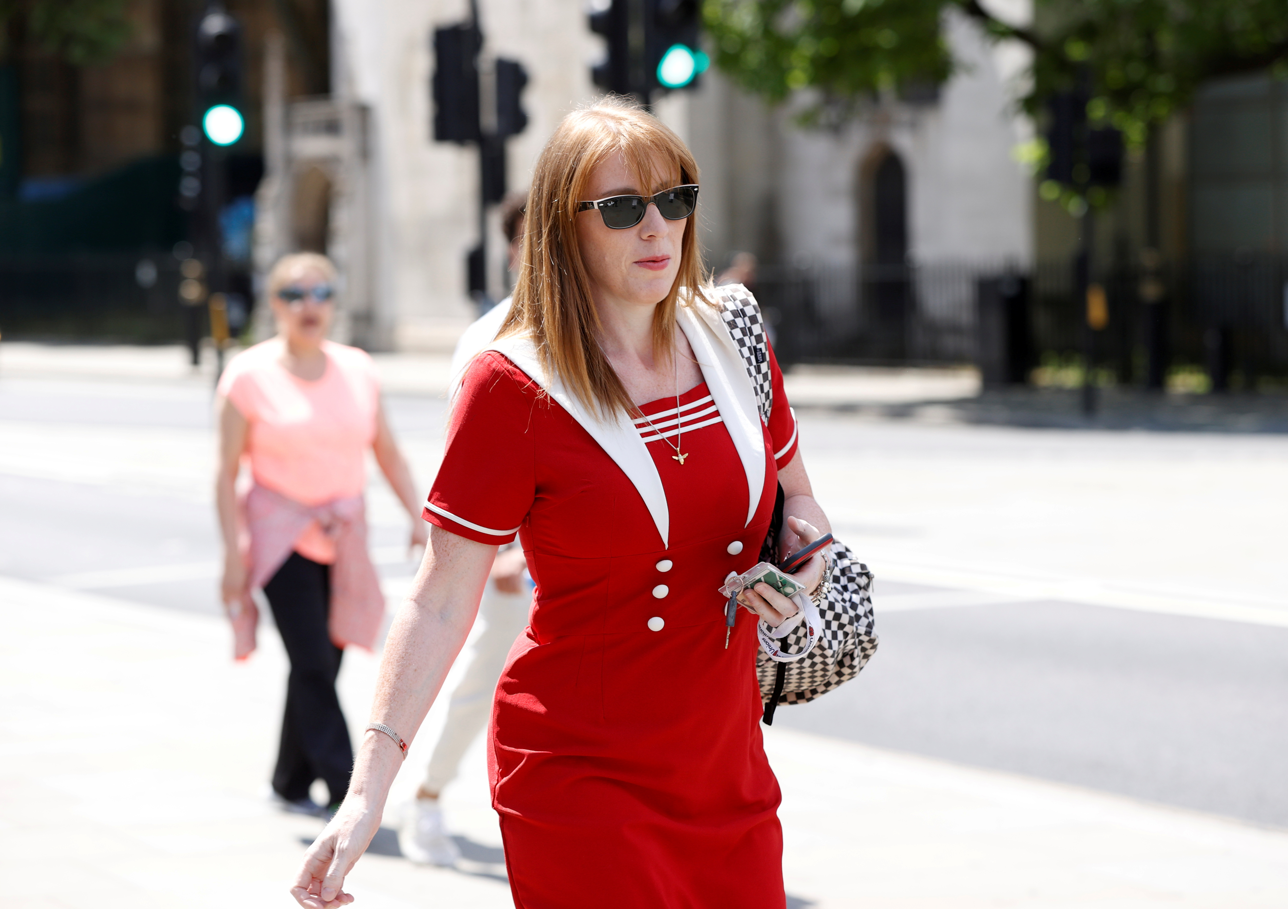 British Labour Party deputy leader Angela Rayner is seen outside parliament in London, June 2, 2020. REUTERS/John Sibley