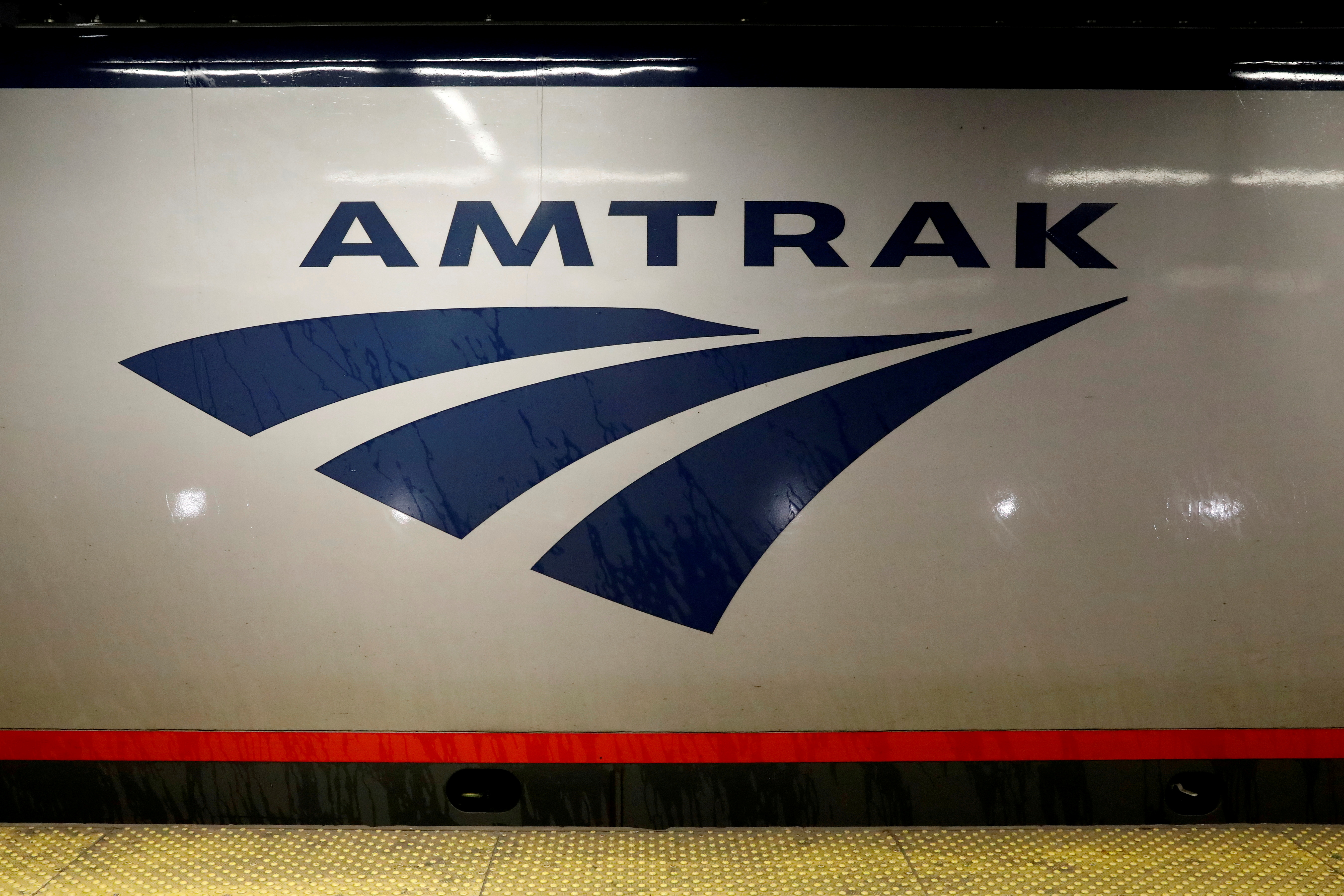 An Amtrak train is parked at the platform inside New York's Penn Station, the nation's busiest train hub, July 7, 2017. REUTERS/Brendan McDermid/File Photo