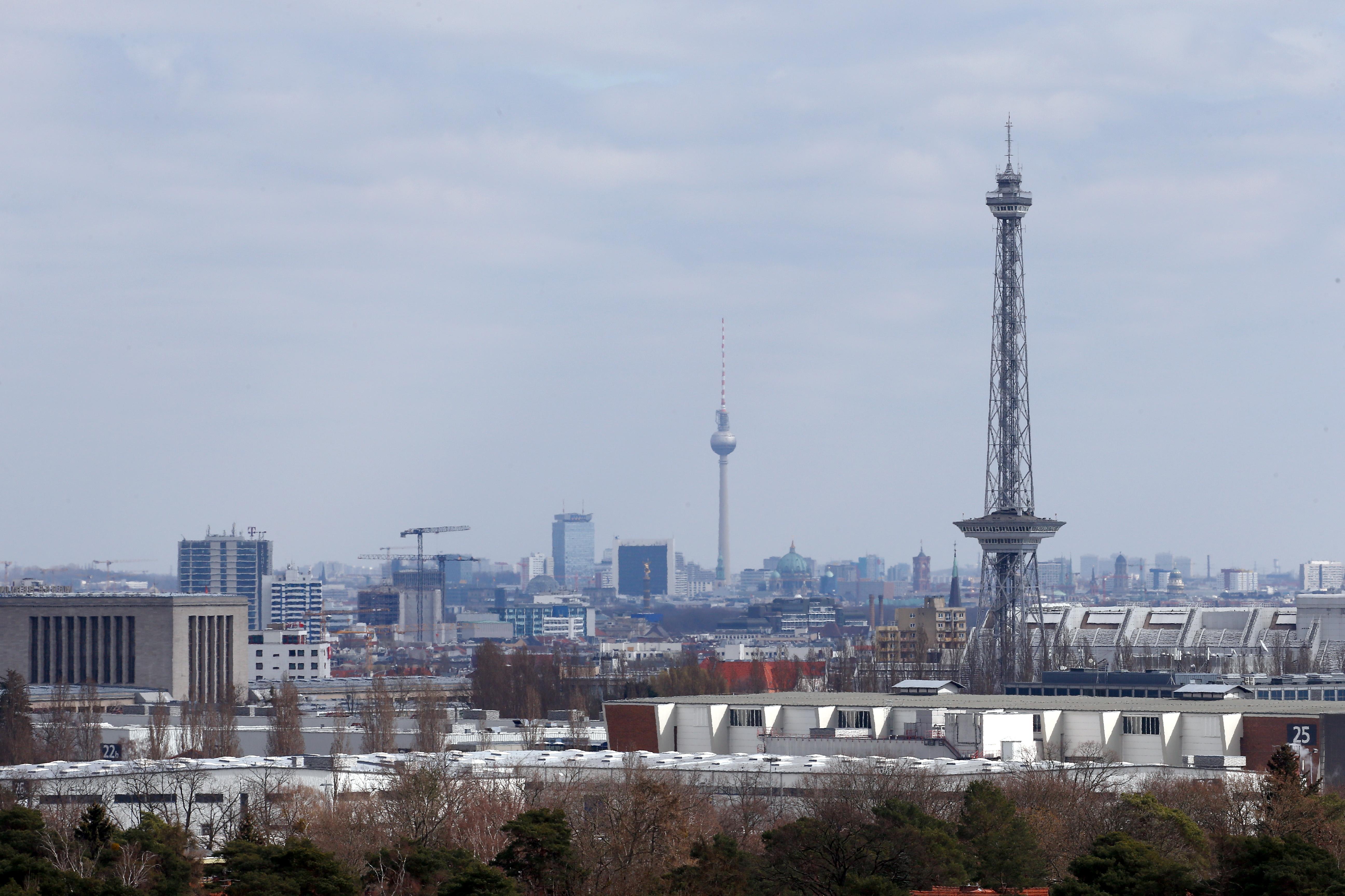The Berlin skyline is seen, during the spread of coronavirus disease (COVID-19) in Berlin, Germany, April 1, 2020. REUTERS/Michele Tantussi