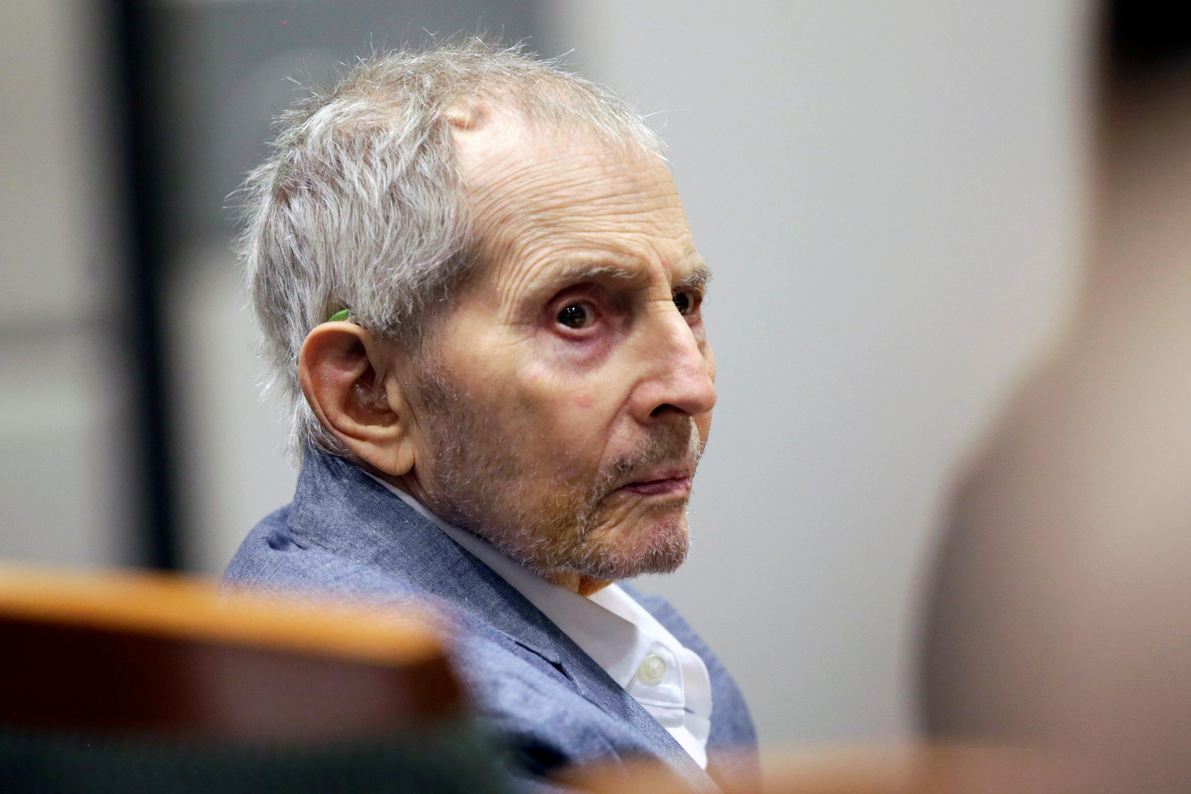 Real estate heir Robert Durst looks over during his murder trial in Los Angeles, California, U.S., March 10, 2020. Alex Gallardo/Pool via Reuters