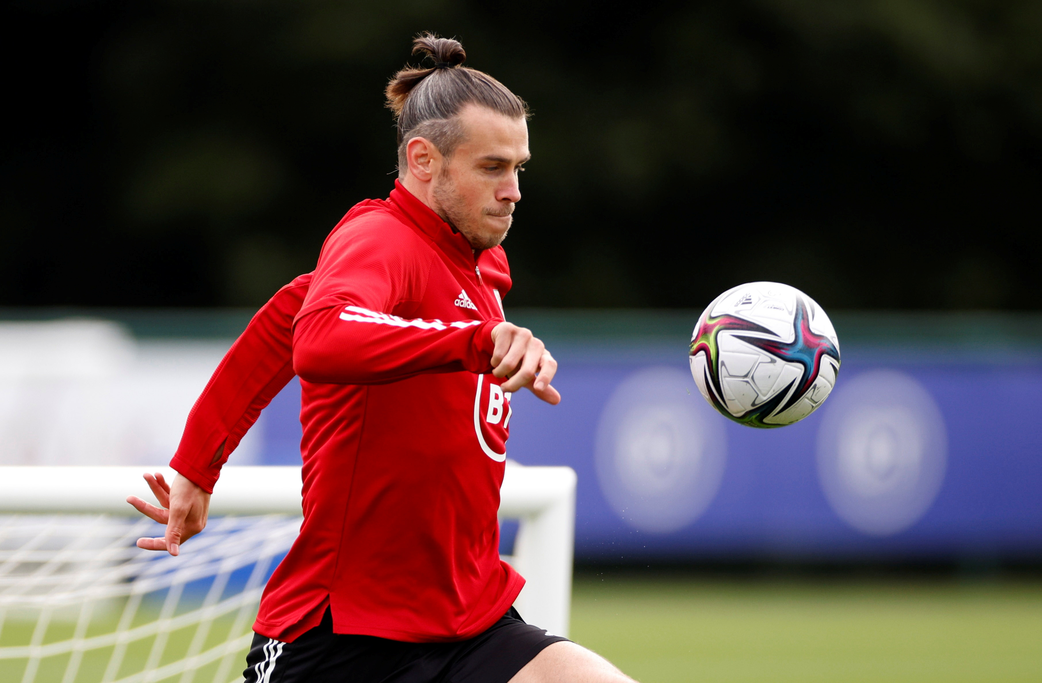 Soccer Football - Wales Training - Vale Resort, Hensol, Wales, Britain - August 31, 2021 Wales' Gareth Bale during training Action Images via Reuters/John Sibley