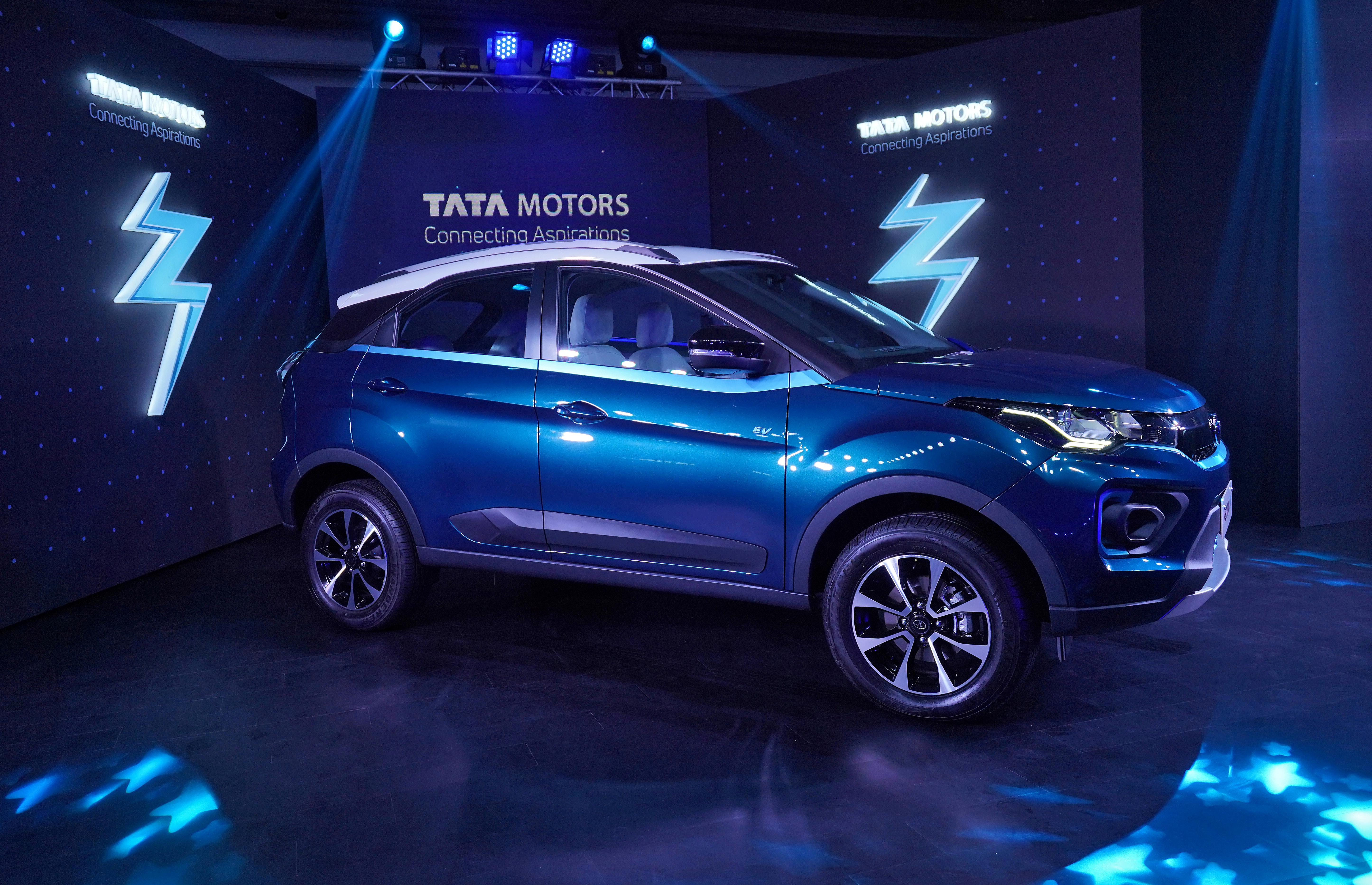 Tata Motors' electric sport utility vehicle (SUV) Nexon EV on show during its launch in Mumbai, India, January 28, 2020. REUTERS/Hemanshi Kamani/File Photo