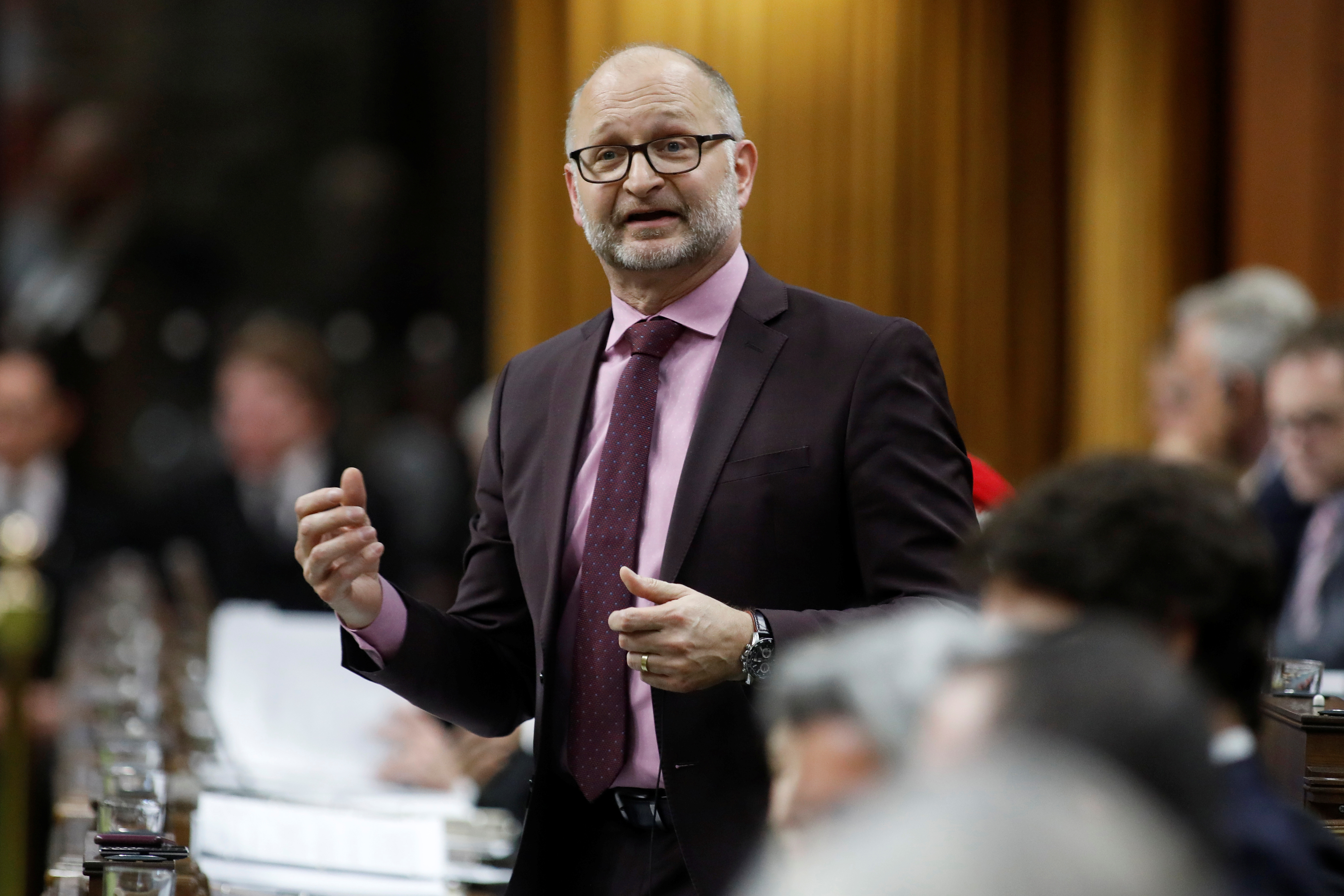 Canada's Minister of Justice and Attorney General of Canada David Lametti speaks during Question Period in the House of Commons on Parliament Hill in Ottawa, Ontario, Canada January 27, 2020. REUTERS/Blair Gable