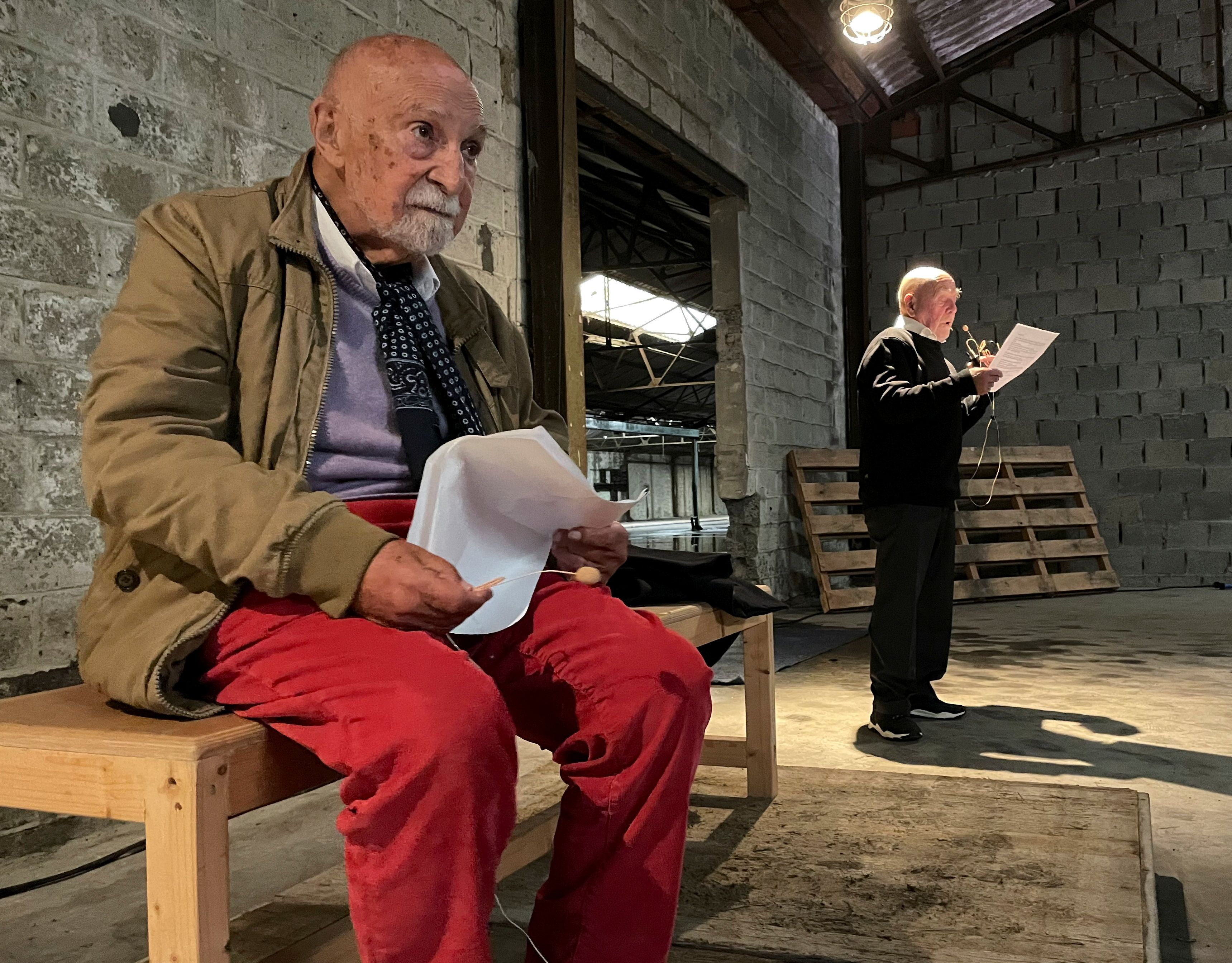 Belgian Holocaust survivor acts out his story on stage to mark ...