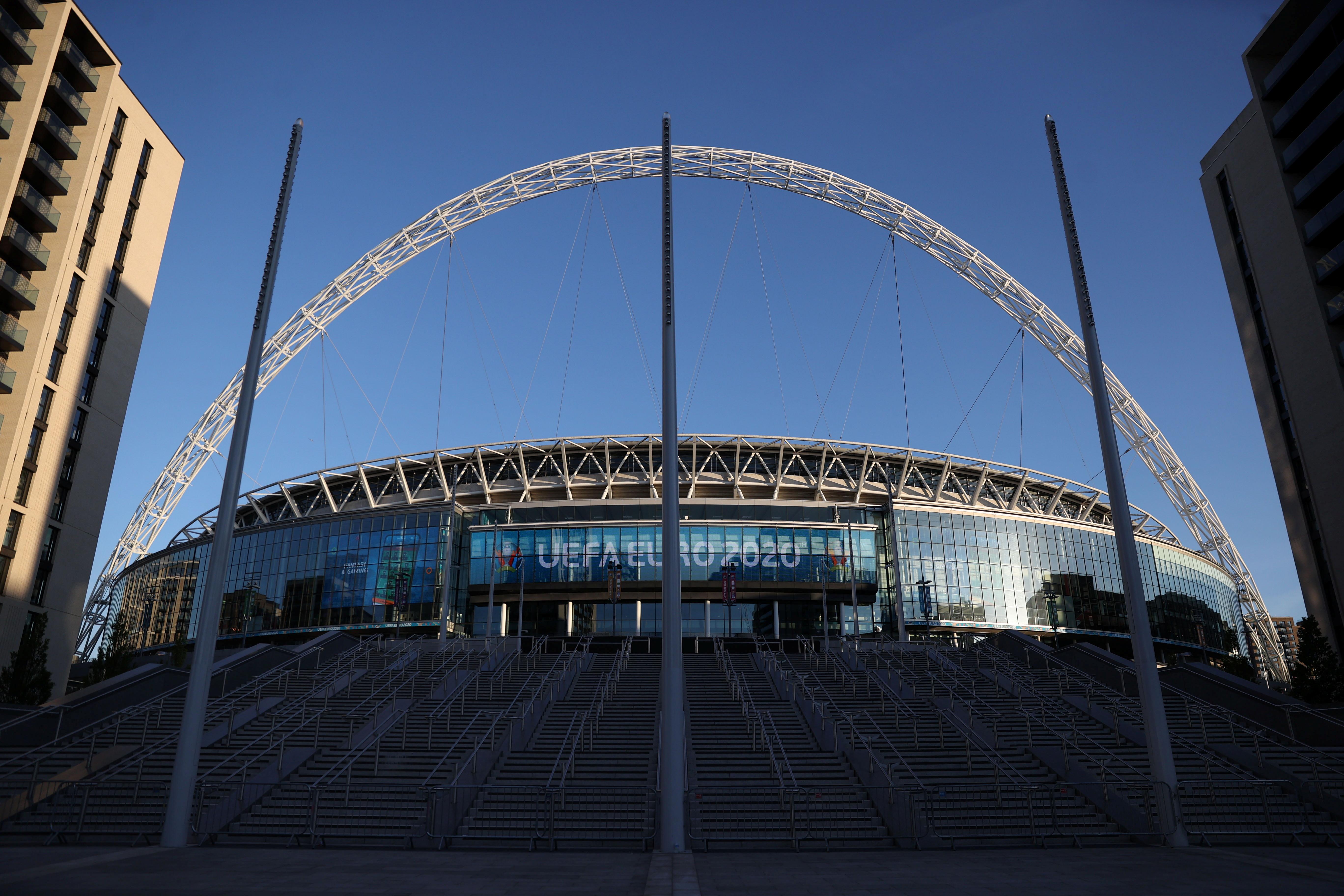 Soccer Football - Euro 2020 - Group D - General view of Wembley Stadium ahead of the England v Croatia match - Wembley Stadium, London, Britain - June 12, 2021 REUTERS/Carl Recine/File Photo