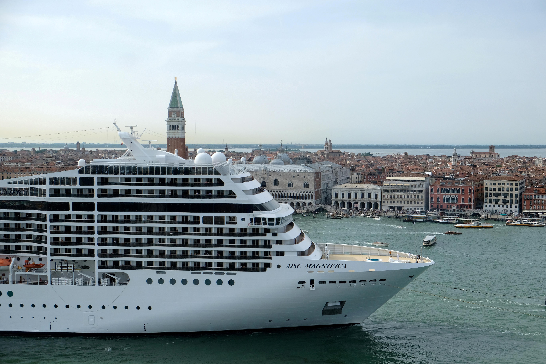 The MSC Magnifica cruise ship passes in the Saint Mark Basin in Venice, Italy June 9, 2019. REUTERS/Manuel Silvestri/File Photo