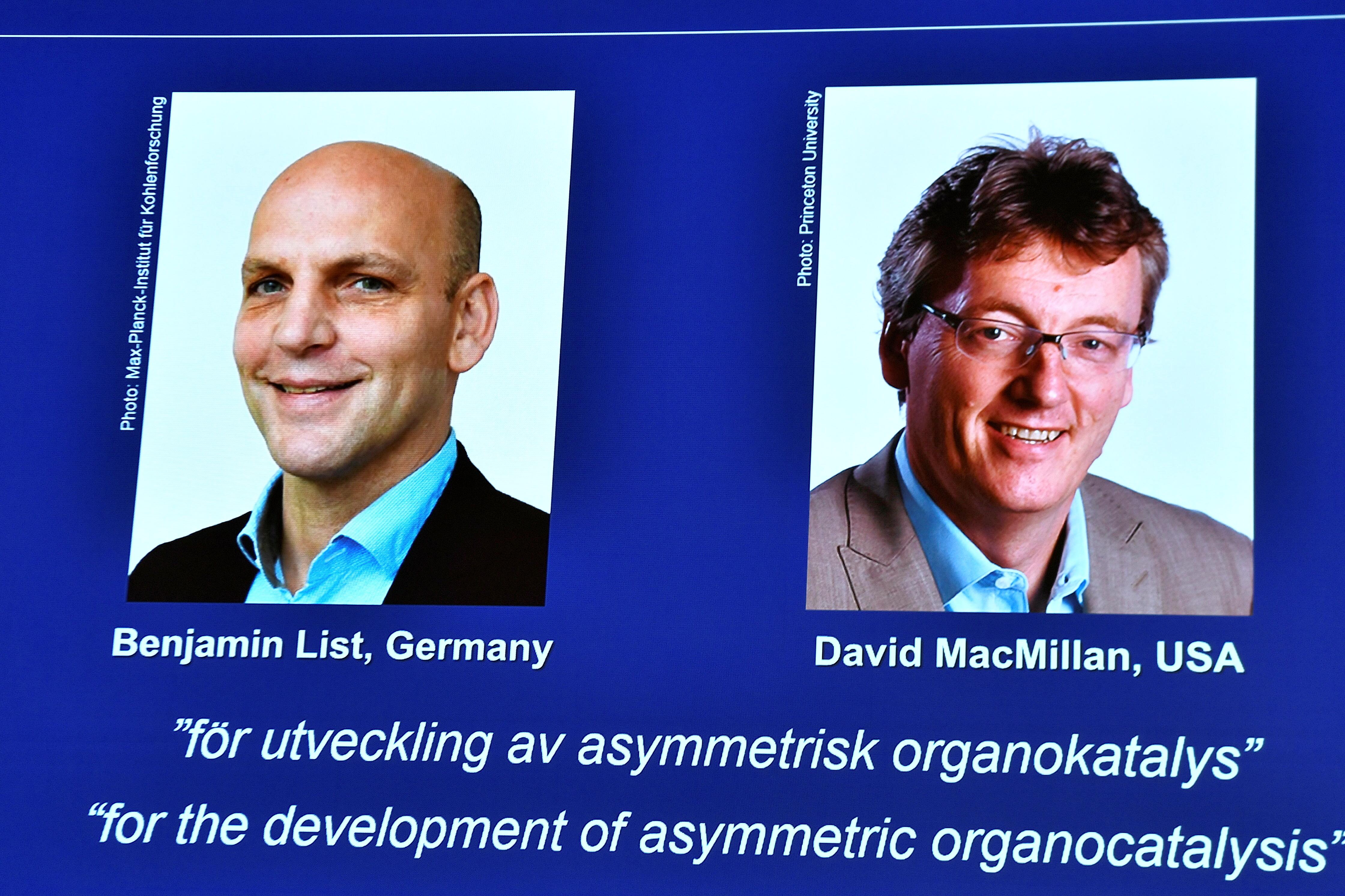 జర్మన్ అమెరికన్ శాస్త్రవేత్తలకు రసాయన నోబెల్  - German American Chemistry Scientists Win Nobel 2021