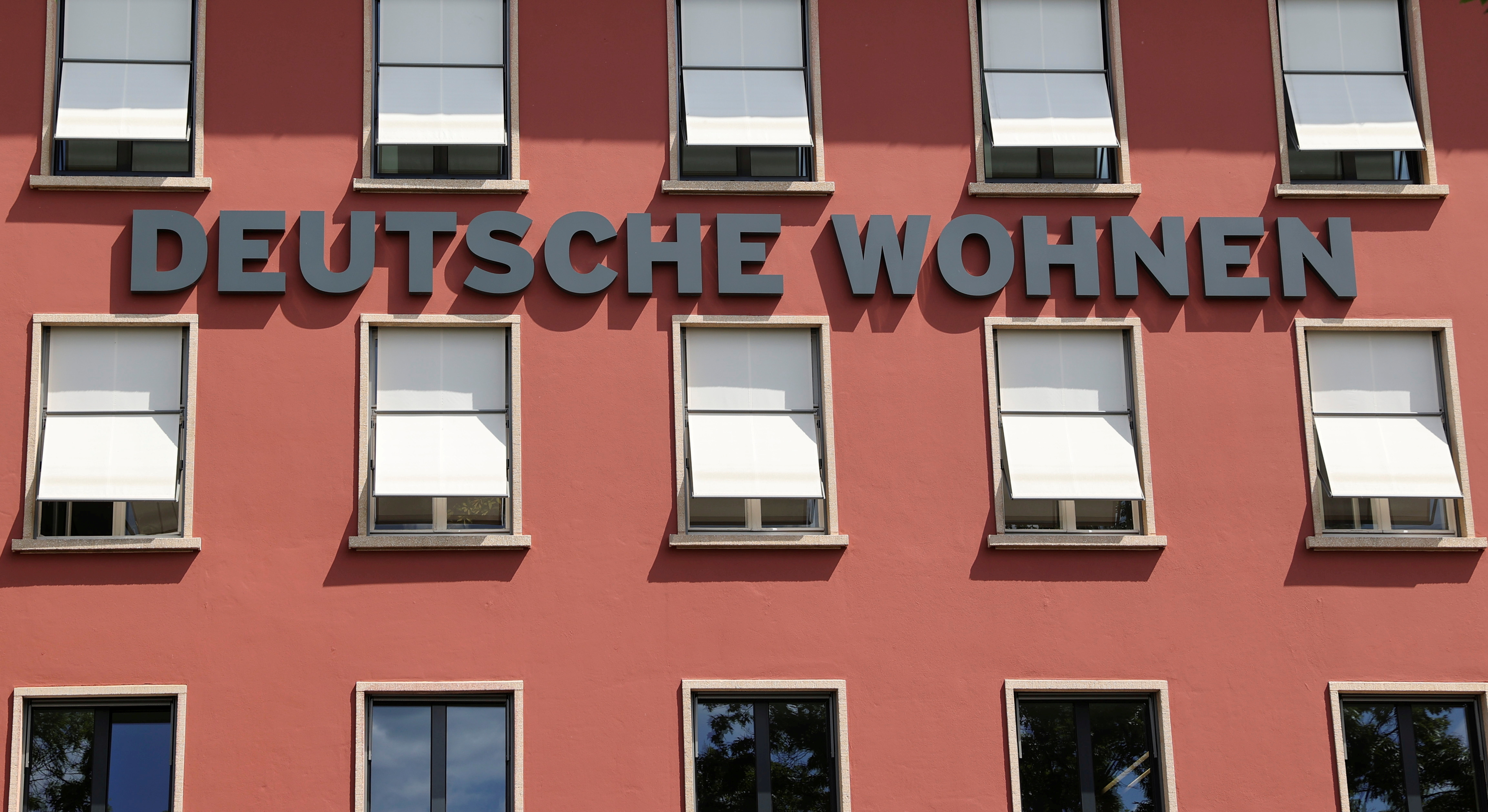 An office building of the German property group Deutsche Wohnen is pictured in Berlin, Germany June 2, 2020. REUTERS/Fabrizio Bensch/File Photo