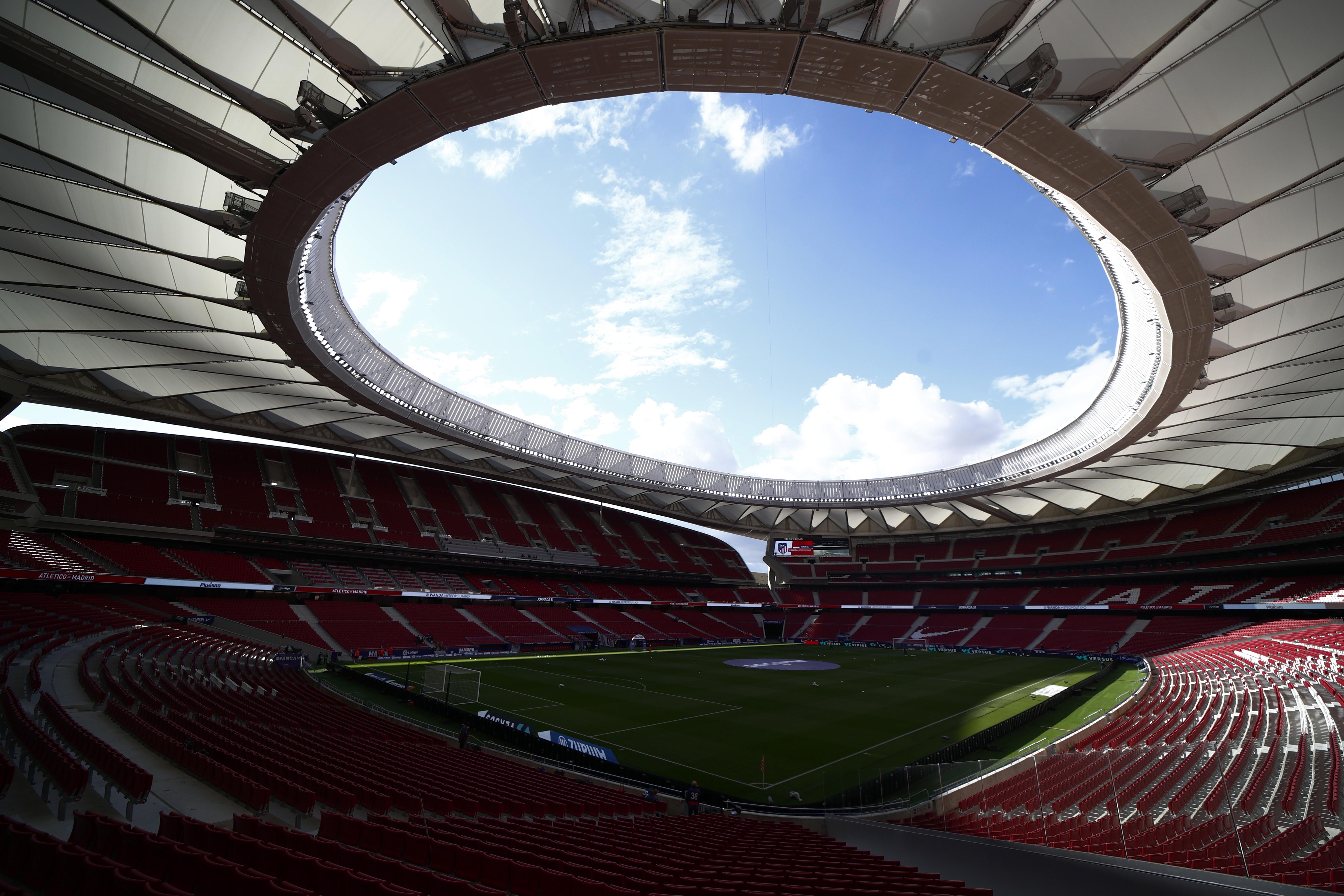 Soccer Football - La Liga Santander - Atletico Madrid v Huesca - Wanda Metropolitano, Madrid, Spain - April 22, 2021 General view inside the stadium before the match REUTERS/Sergio Perez