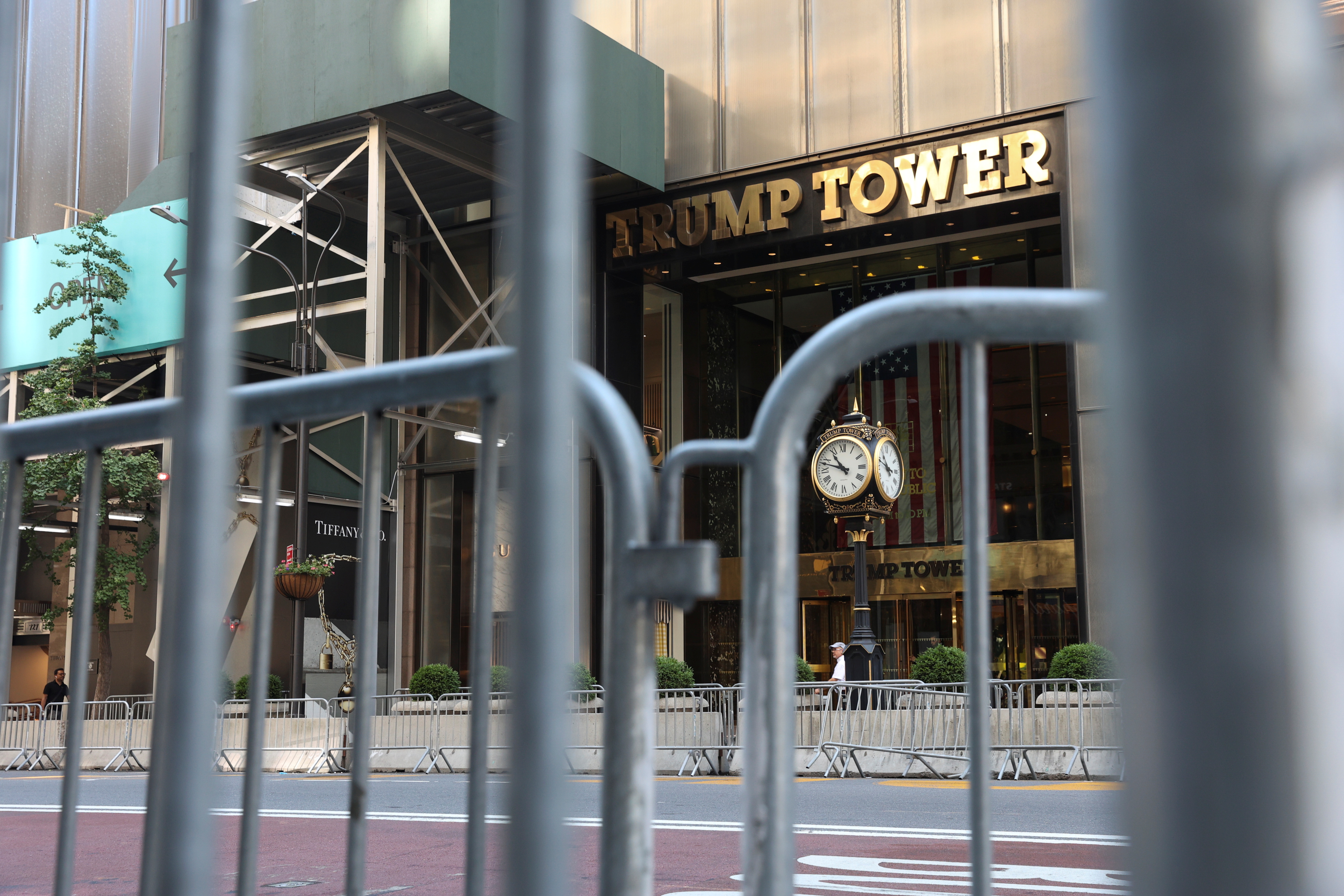 The entrance to Trump Tower on 5th Avenue is pictured in the Manhattan borough of New York City, U.S., June 30, 2021. REUTERS/Angus Mordant