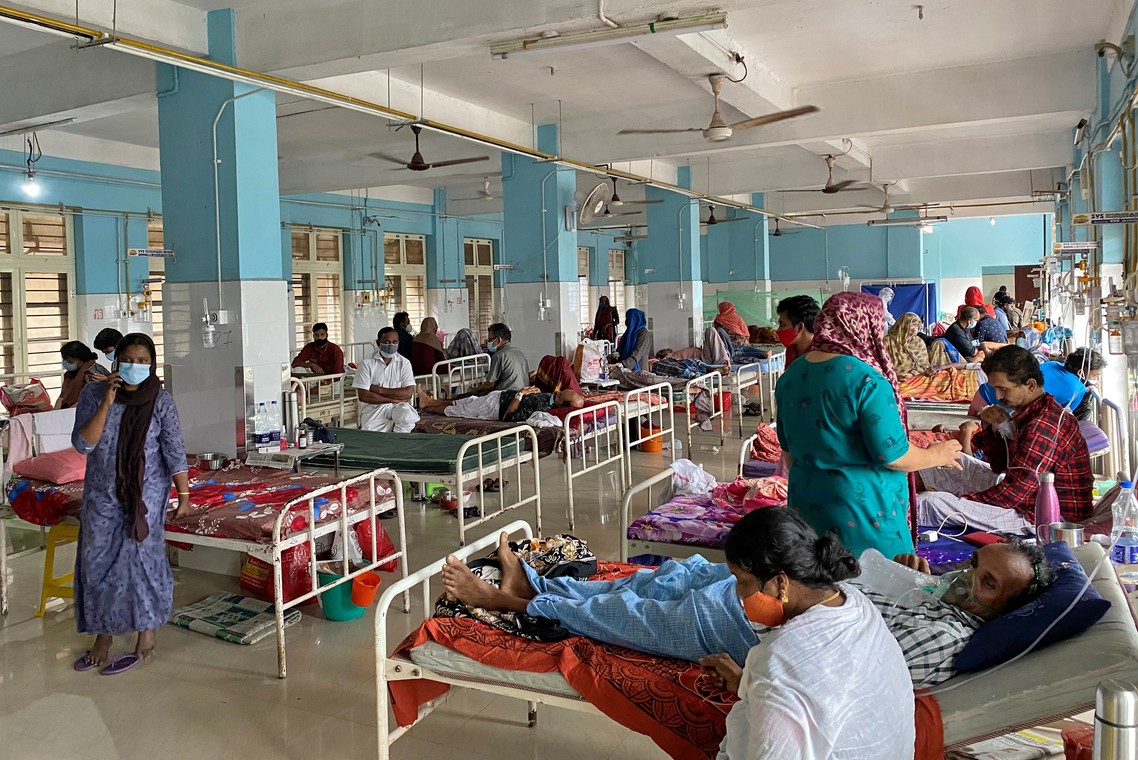 A coronavirus disease (COVID-19) ward is pictured in the Government Medical College Hospital in Manjeri, in the Malappuram district of the southern state of India. August 18, 2021. Picture taken August 18, 2021. REUTERS/Krishna N. Das/Files