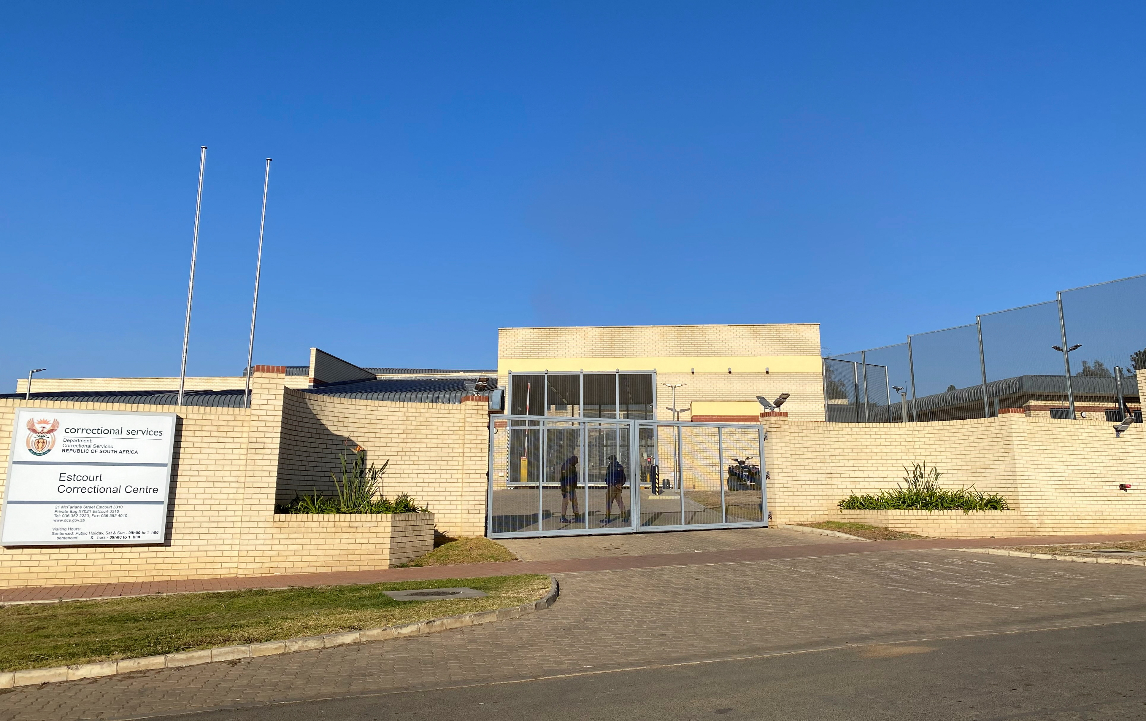 A general view of Estcourt Correctional Centre, where South Africa's former president Jacob Zuma is being held after he turned himself in to begin a 15-month sentence for contempt of court, in Estcourt, South Africa, July 8, 2021. REUTERS/Siyabonga Sishi