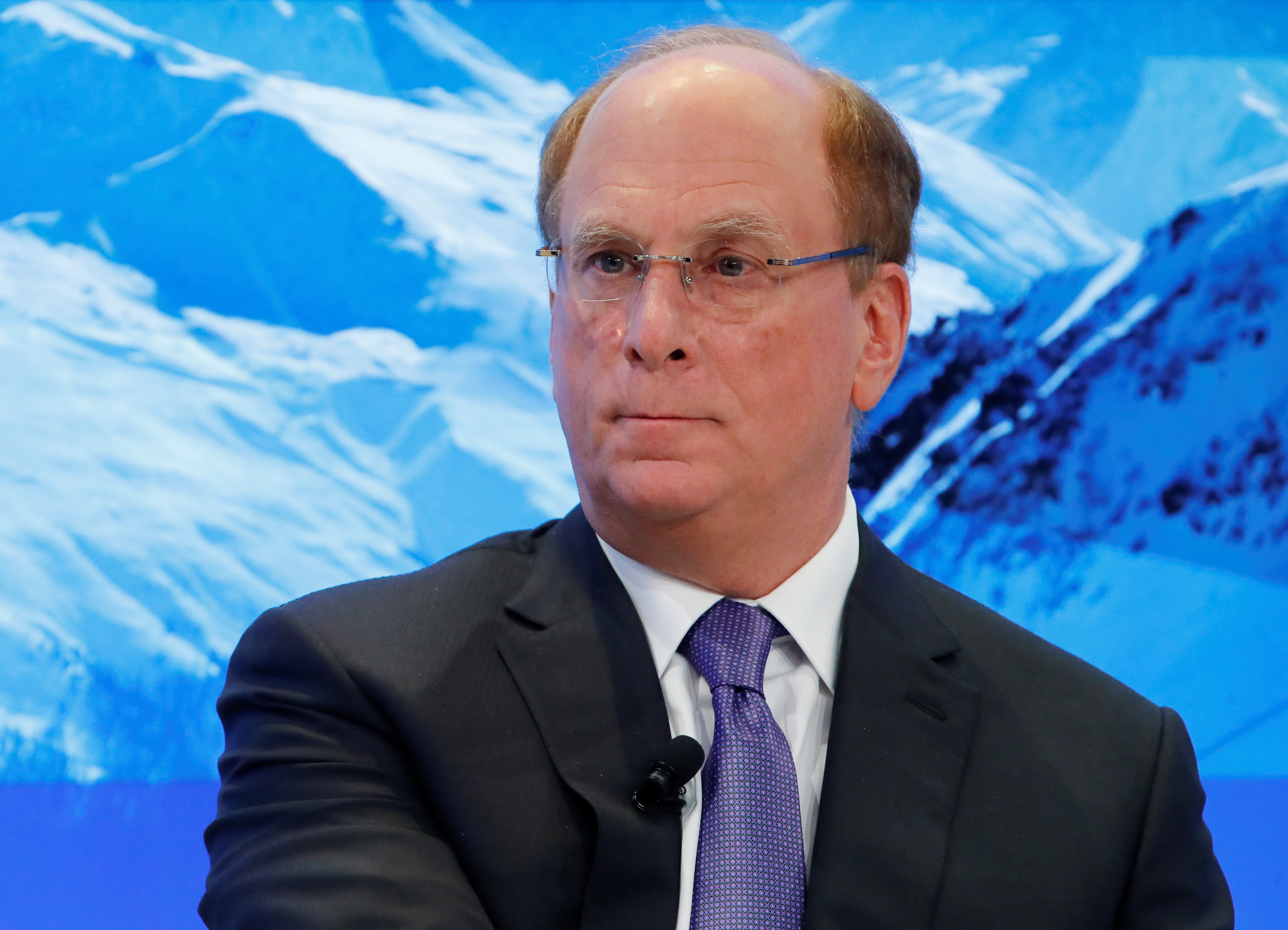 Laurence D. Fink, chairman and CEO of BlackRock, attends the World Economic Forum annual meeting in Davos, January 25, 2018. REUTERS/Denis Balibouse