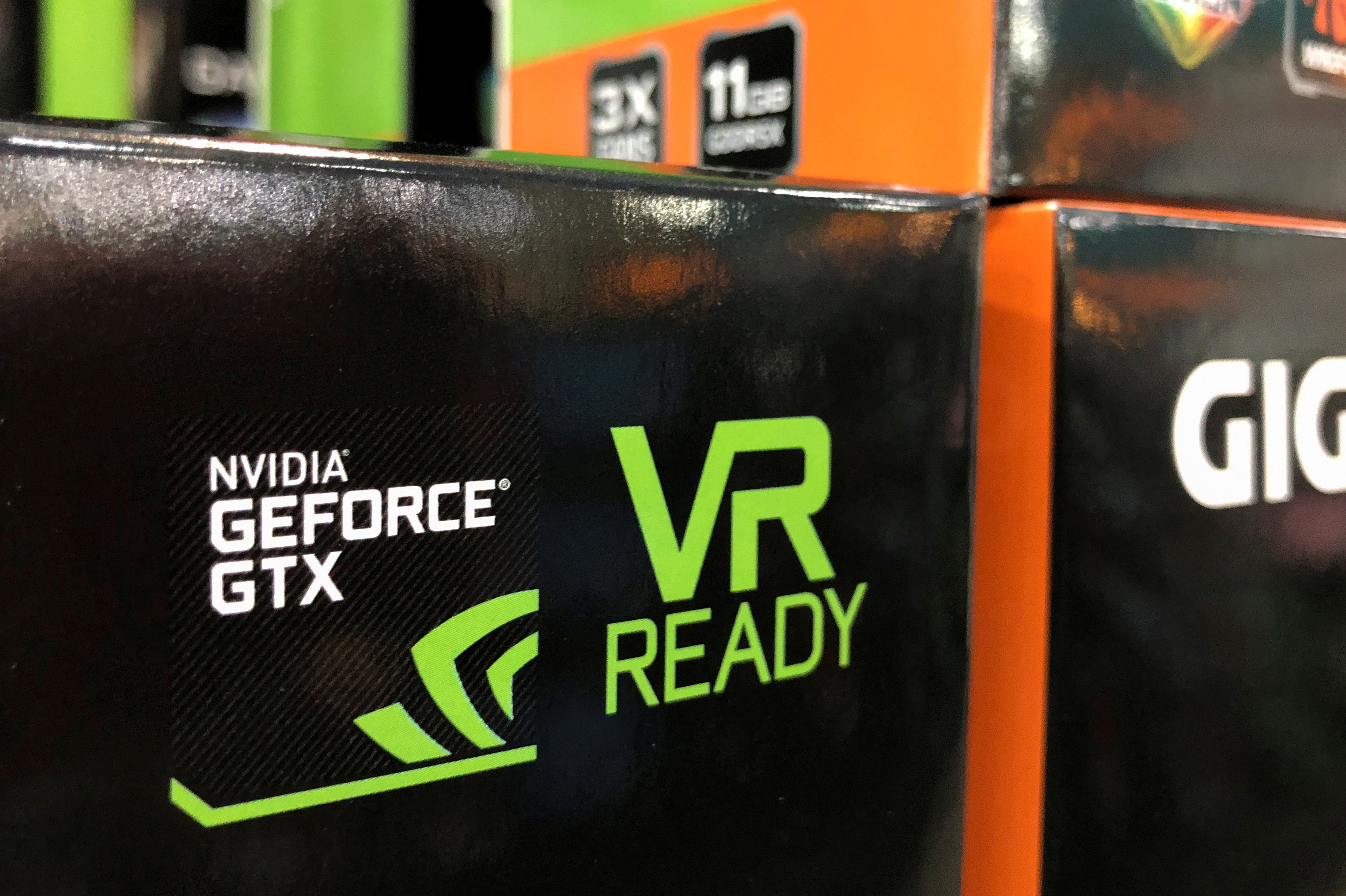 NVIDIA computer graphic cards are shown for sale at a retail store in San Marcos, California, U.S. August 14, 2018. REUTERS/Mike Blake/File Photo