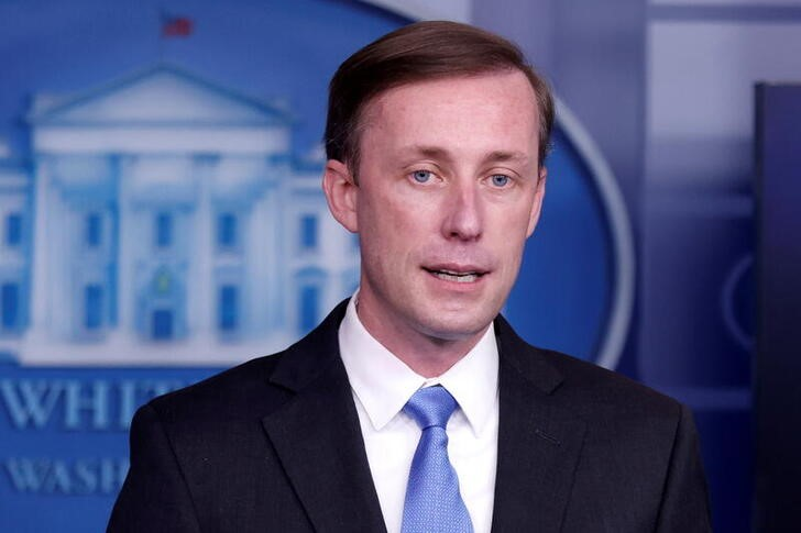 White House National Security Advisor Jake Sullivan delivers remarks during a press briefing inside the White House in Washington, U.S., February 4, 2021. REUTERS/Tom Brenner/File Photo